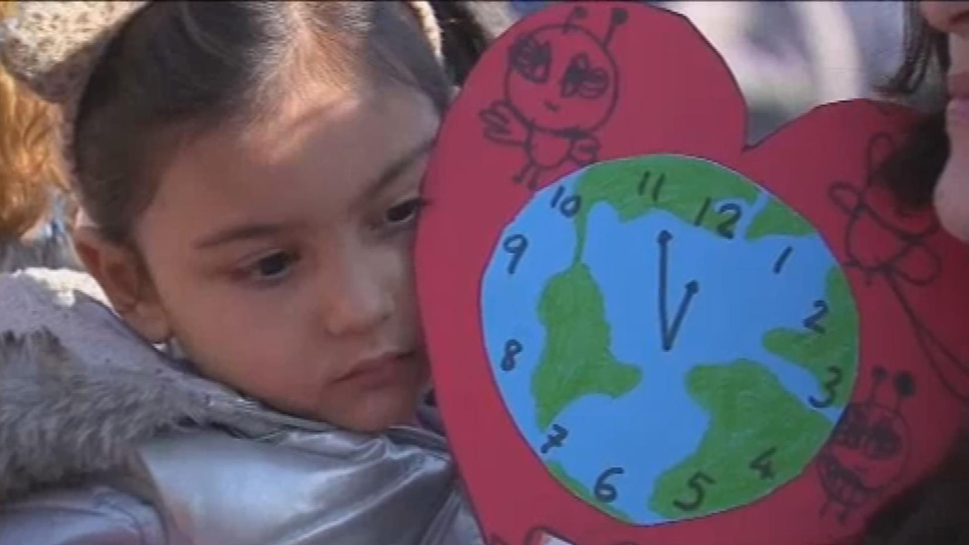 U.K. and Europe school children protest to demand climate change action