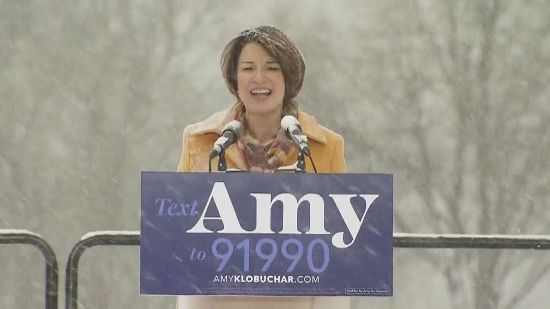 Democratic Sen. Amy Klobuchar announces run for president