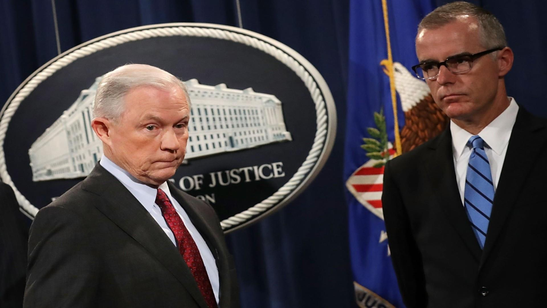 McCabe: Sessions said FBI was better off when it hired drunk Irishmen