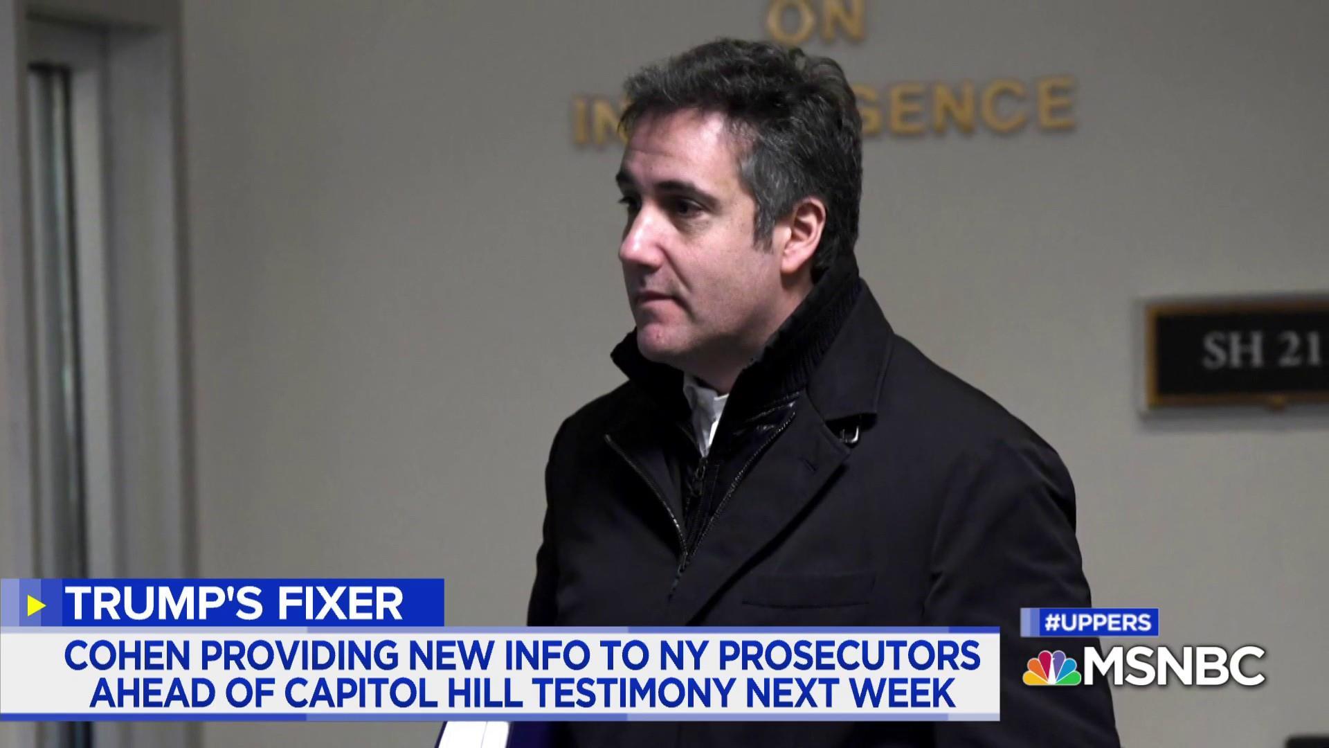 What inside info is Cohen providing SDNY investigators?