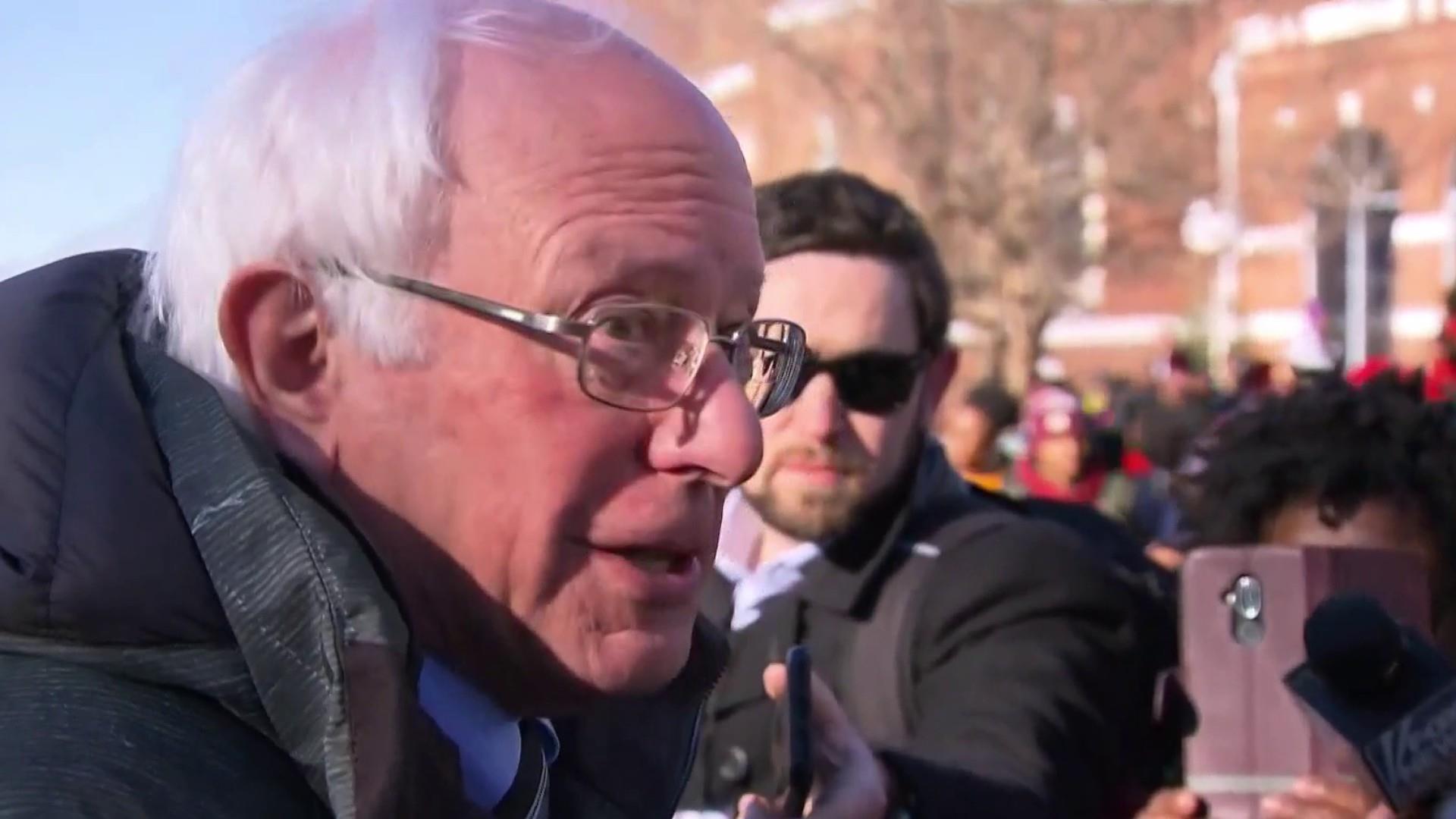 Bernie Sanders raises $3.3 million hours after 2020 announcement