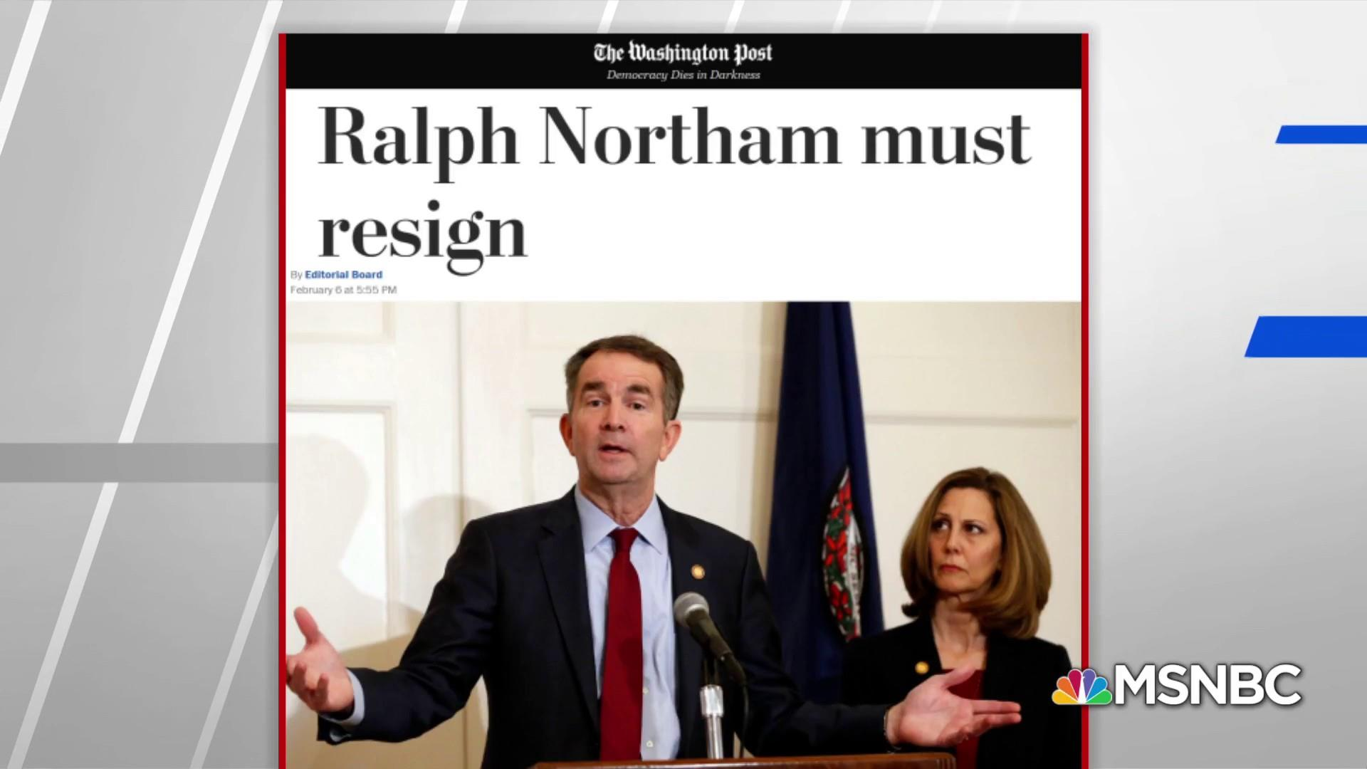 Washington Post Editorial Board calls Northam to resign