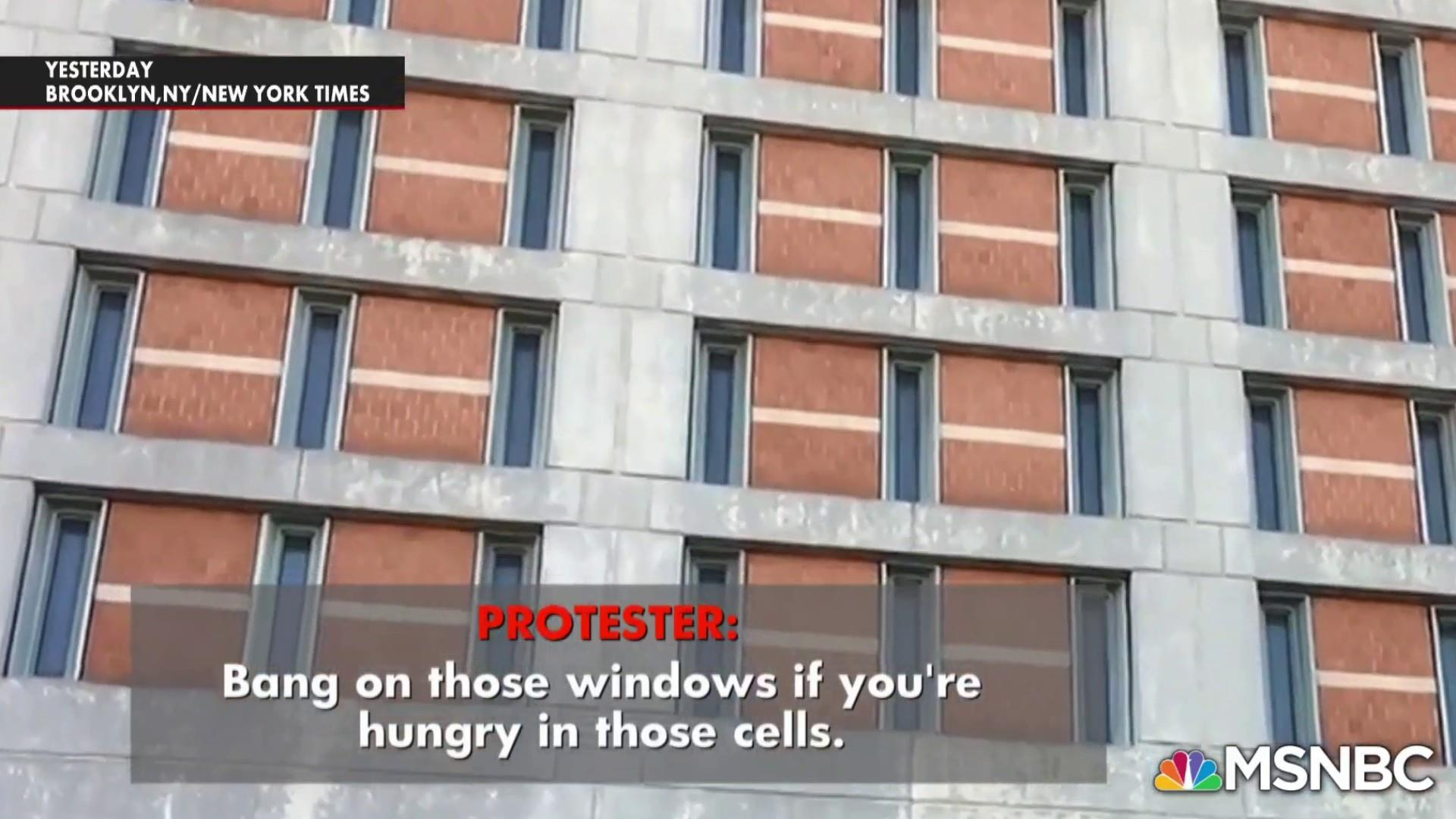 Protests outside Brooklyn jail where there was no heat for days