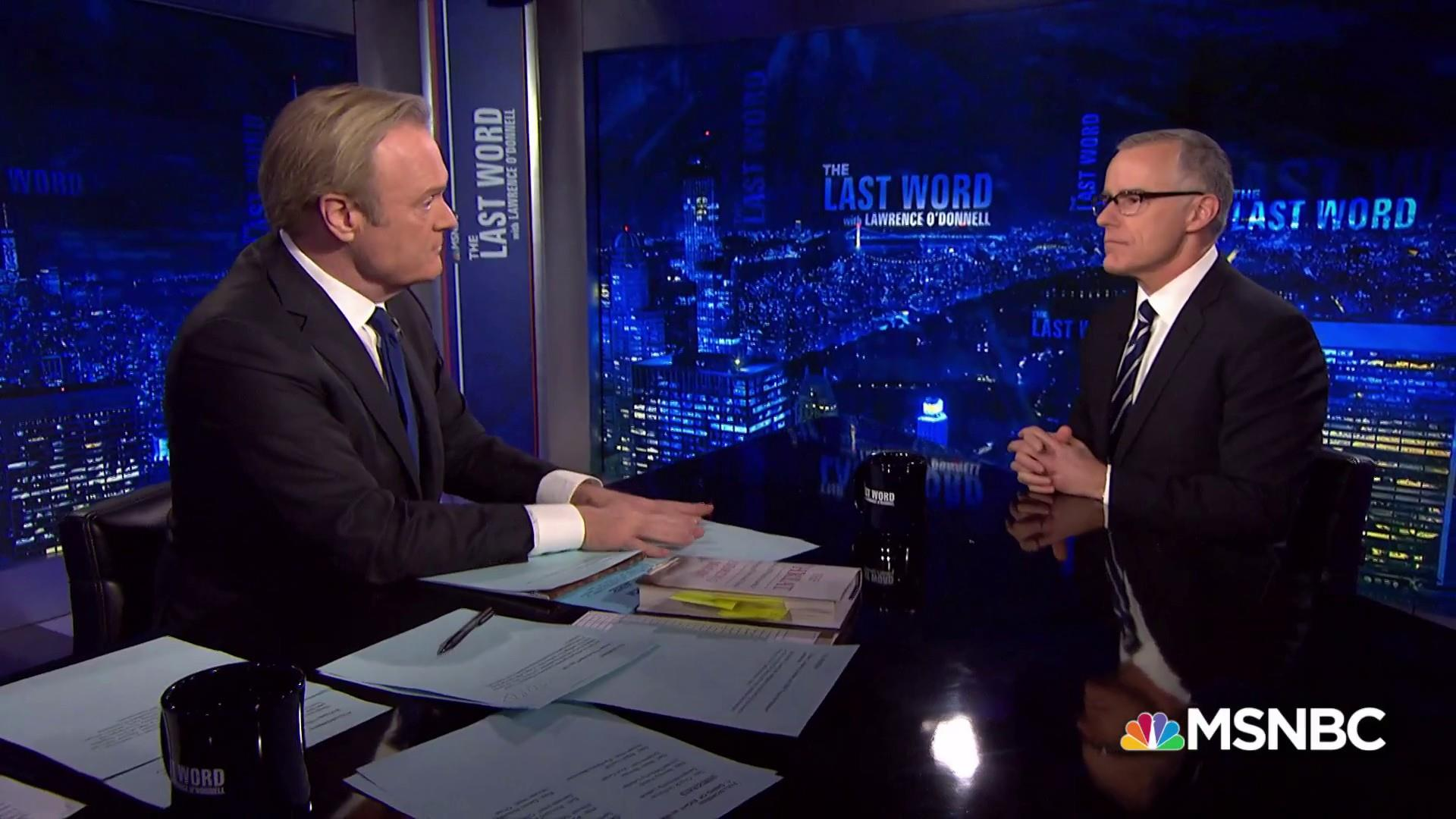 Andrew McCabe on whether he 'hates' Trump