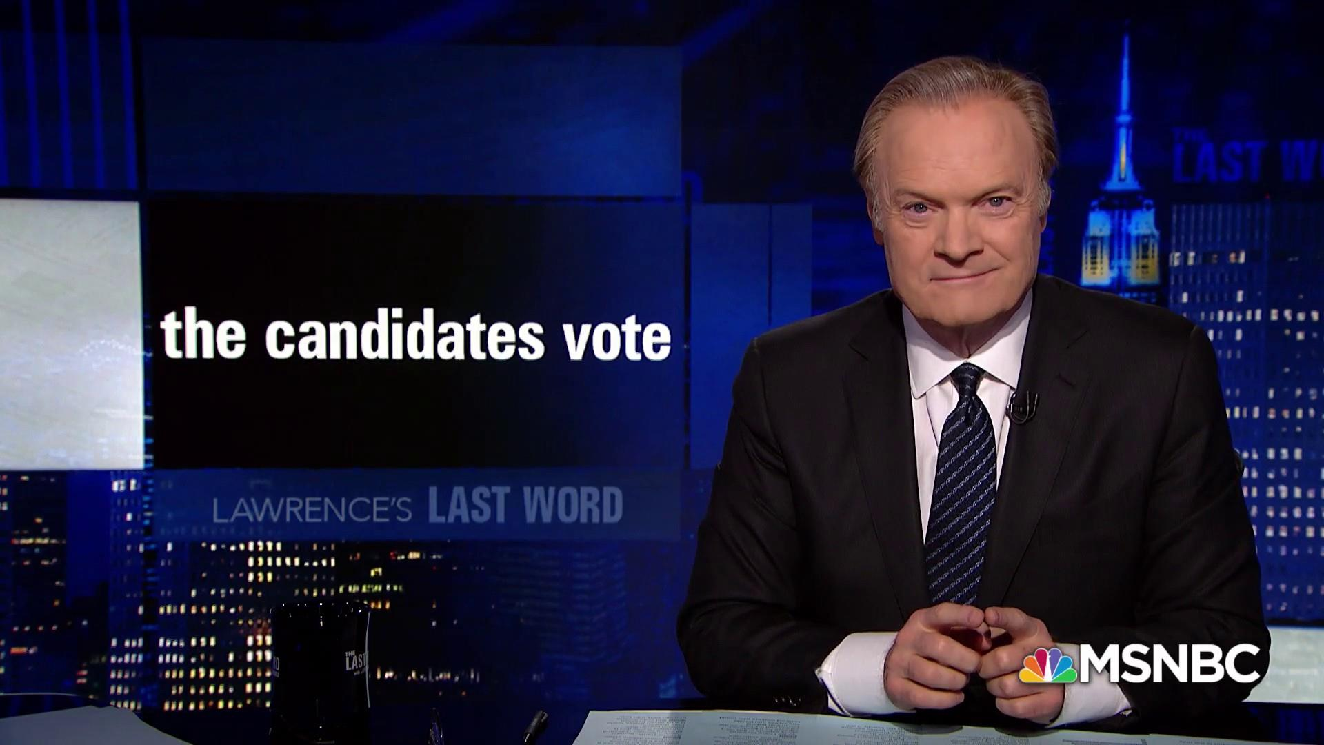 Lawrence's Last Word: the candidates vote