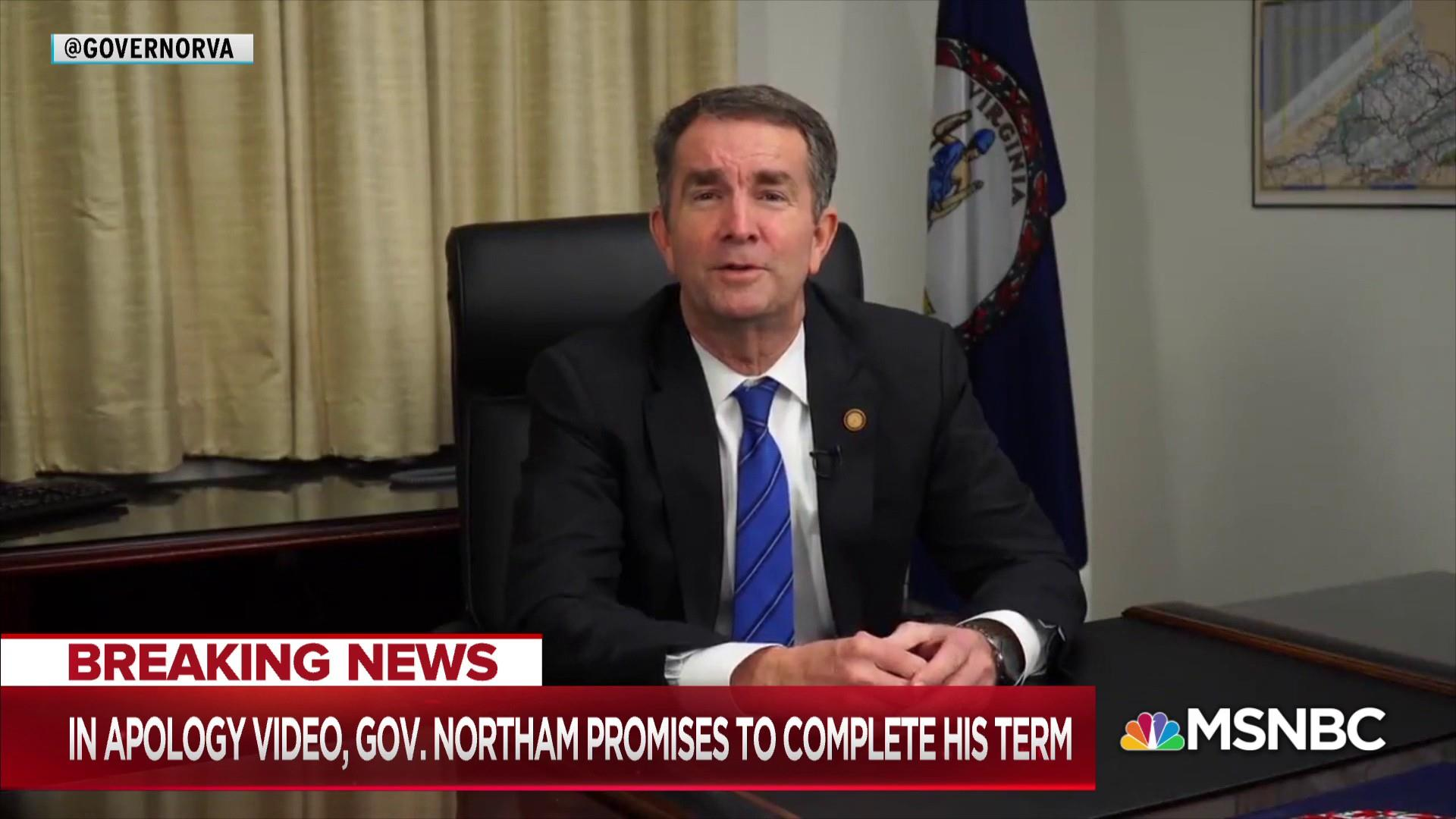 Racist photo prompts call for Virginia governor's resignation