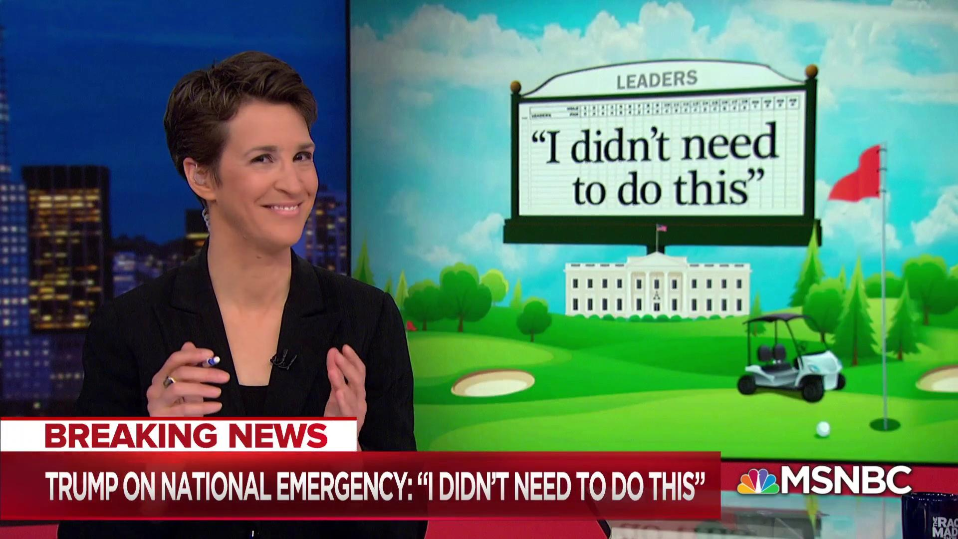 Trump undermines emergency declaration as soon as he makes it