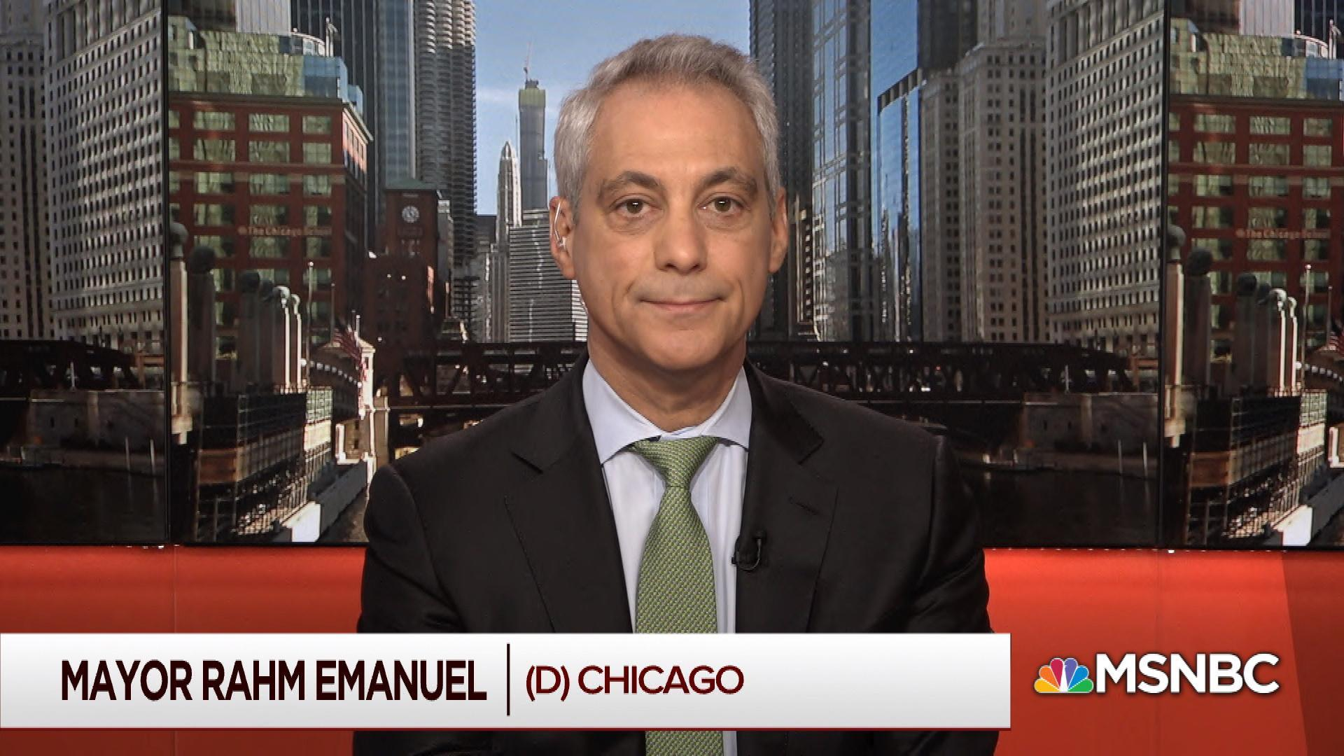 Mayor Emanuel:  Trump broke a pledge on the wall