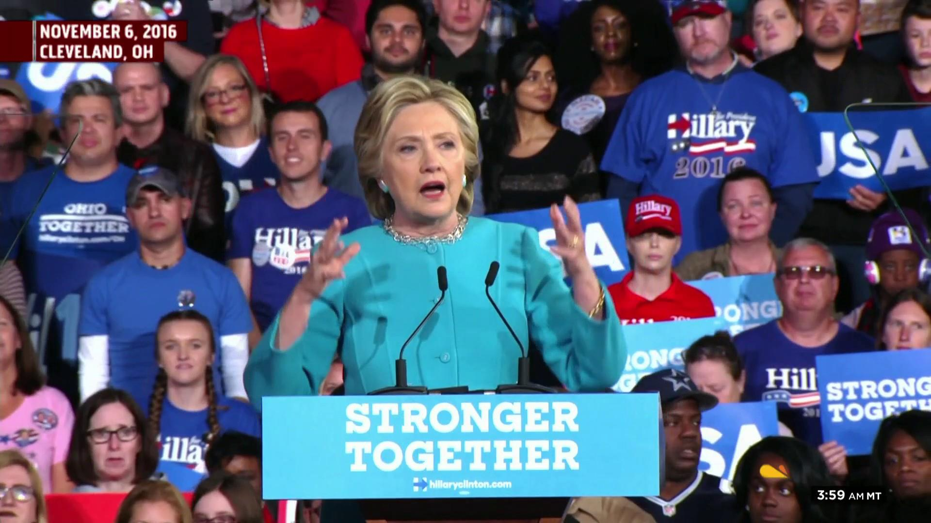 Trump seems to borrow Clinton's 'Stronger Together'