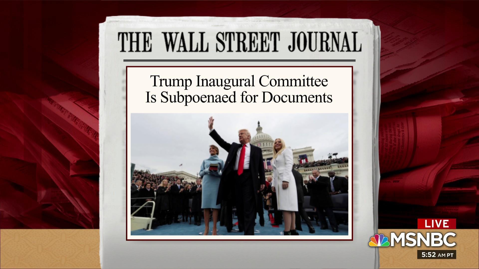 Subpoena seeks Trump inaugural fund documents