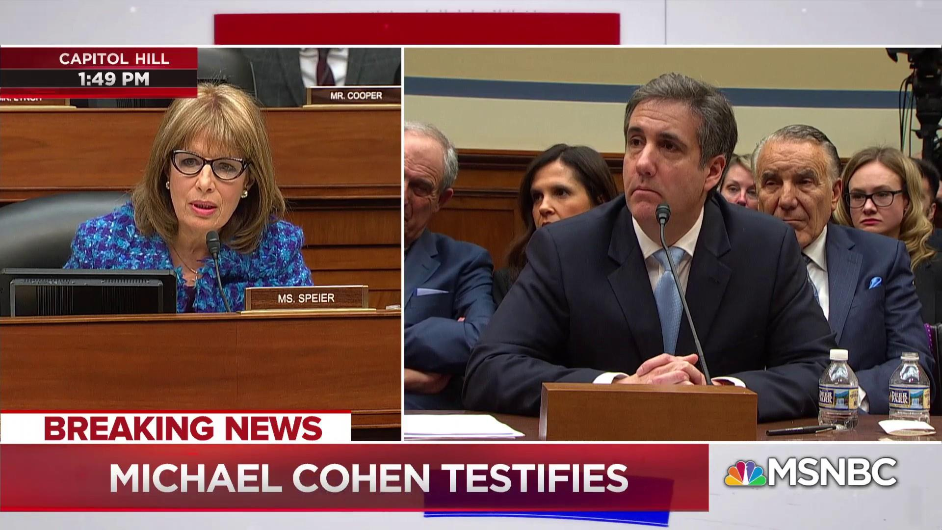 Cohen testifies on threatening people on Trump's behalf