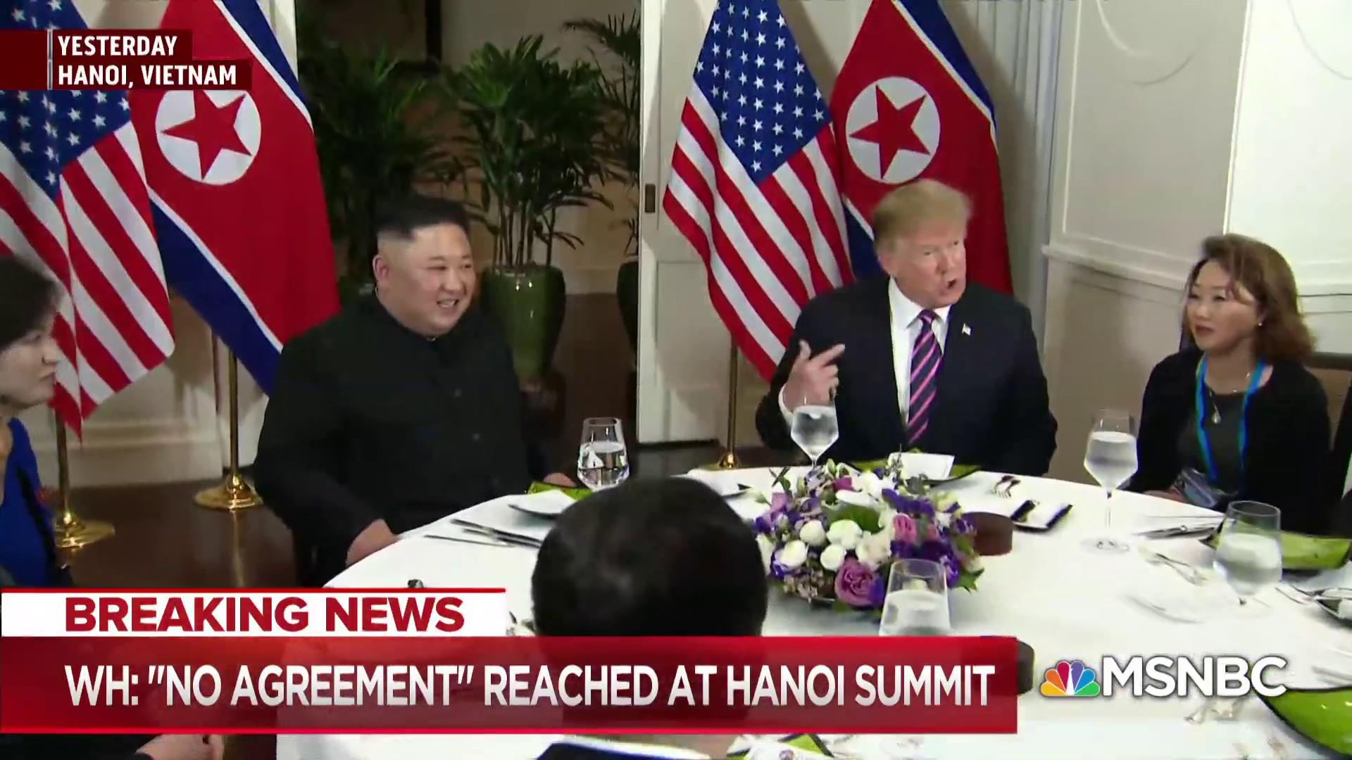 Bill Neely: No deal reached linked to North Korea wanting sanctions lifted