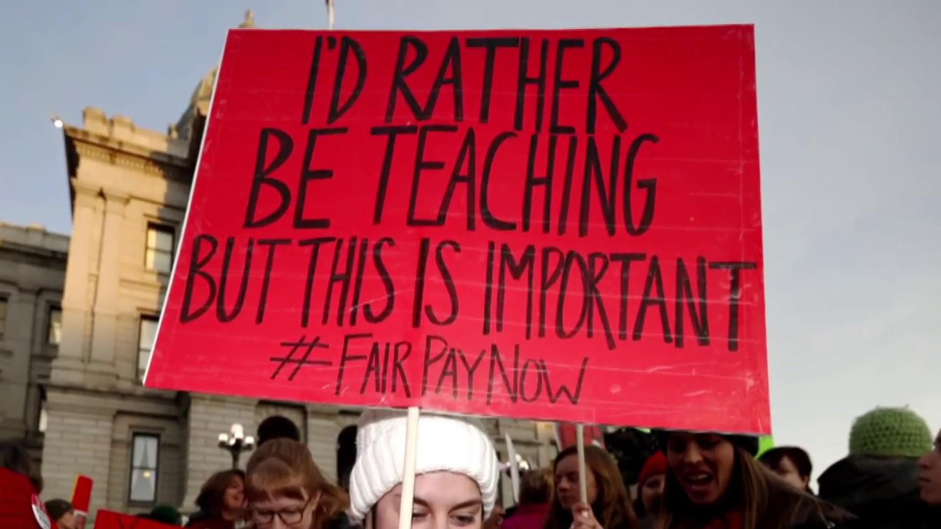 Denver teachers continue to strike for better pay, equal bonuses