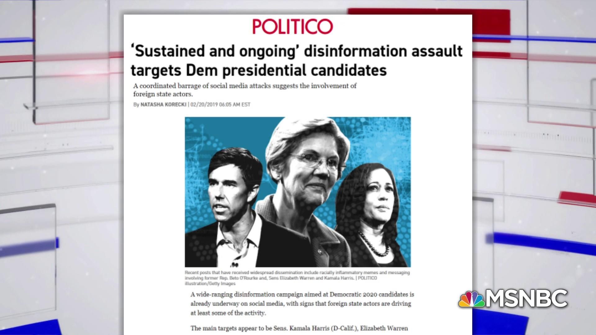 Russian disinformation campaign reportedly targets 2020 Dems