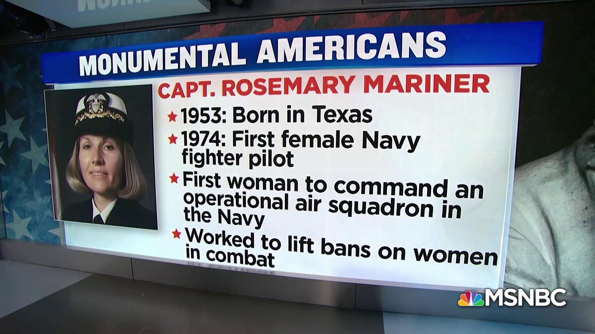 #MonumentalAmerican: the first female Navy fighter pilot
