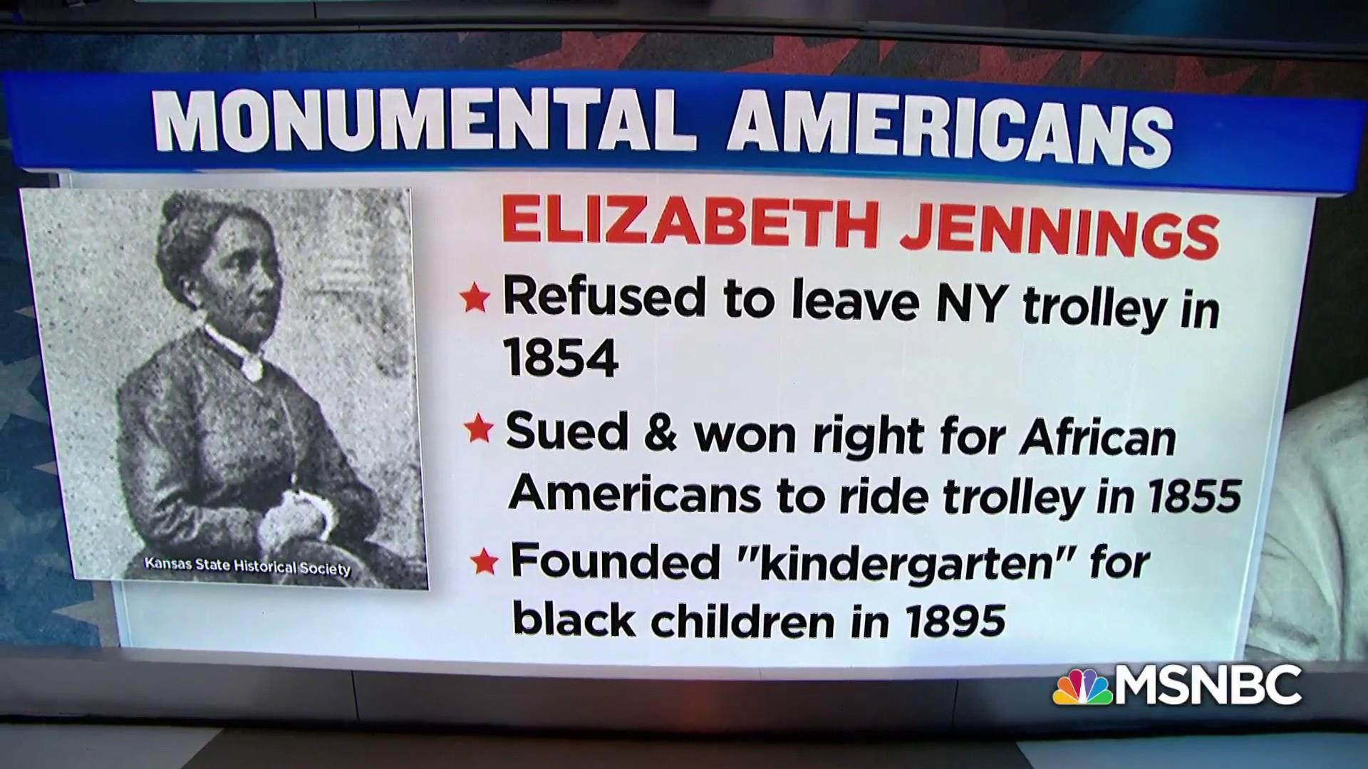 #MonumentalAmerican: Civil Rights activist Elizabeth Jennings
