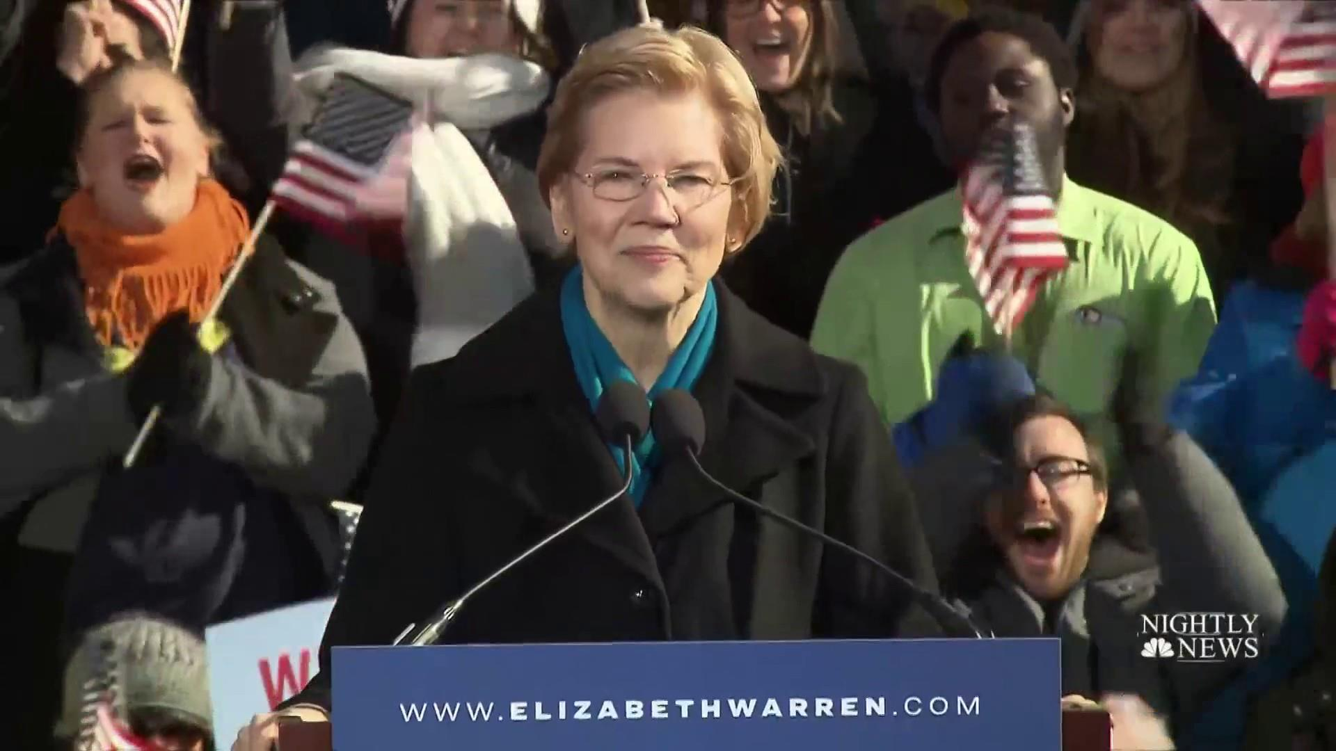 Elizabeth Warren launches 2020 bid with call to ignore 'cowards' and go big