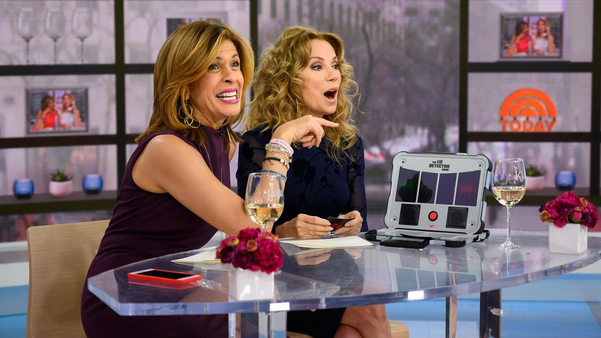 KLG and Hoda have fun with a toy lie detector