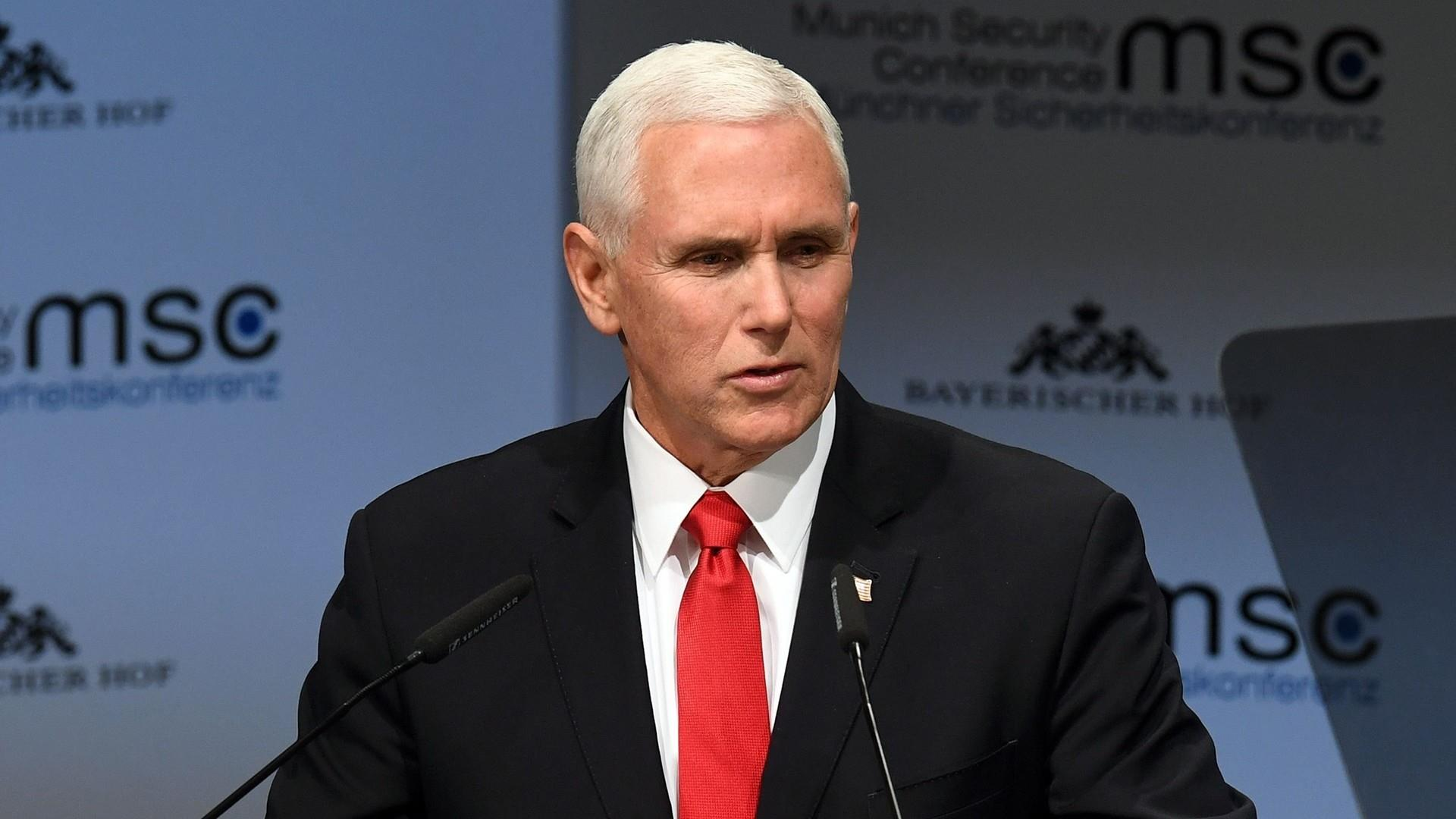 Pence criticized European allies for undermining US sanctions on Iran