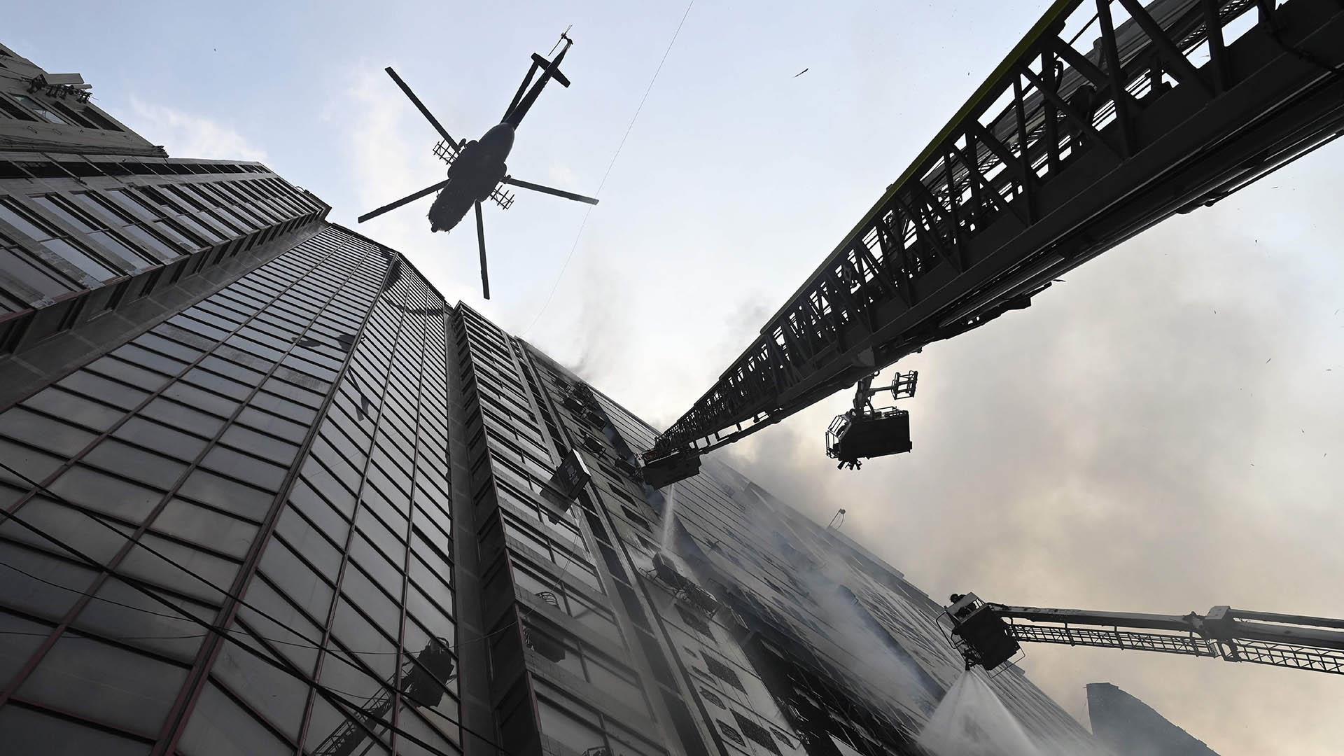 Bangladesh high-rise office building fire leaves more than a dozen dead