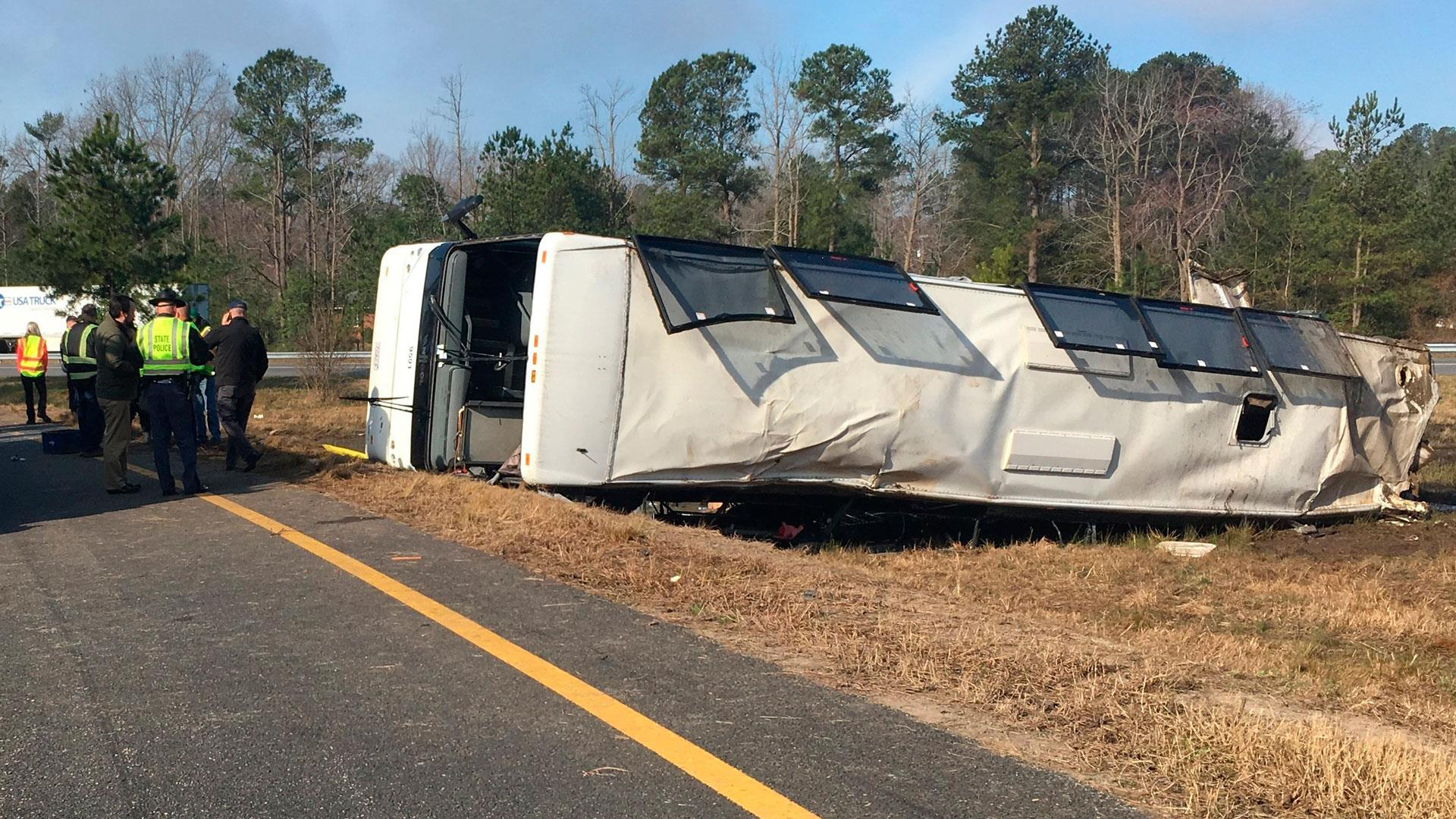 Driver in deadly charter bus crash in Virginia charged with manslaughter