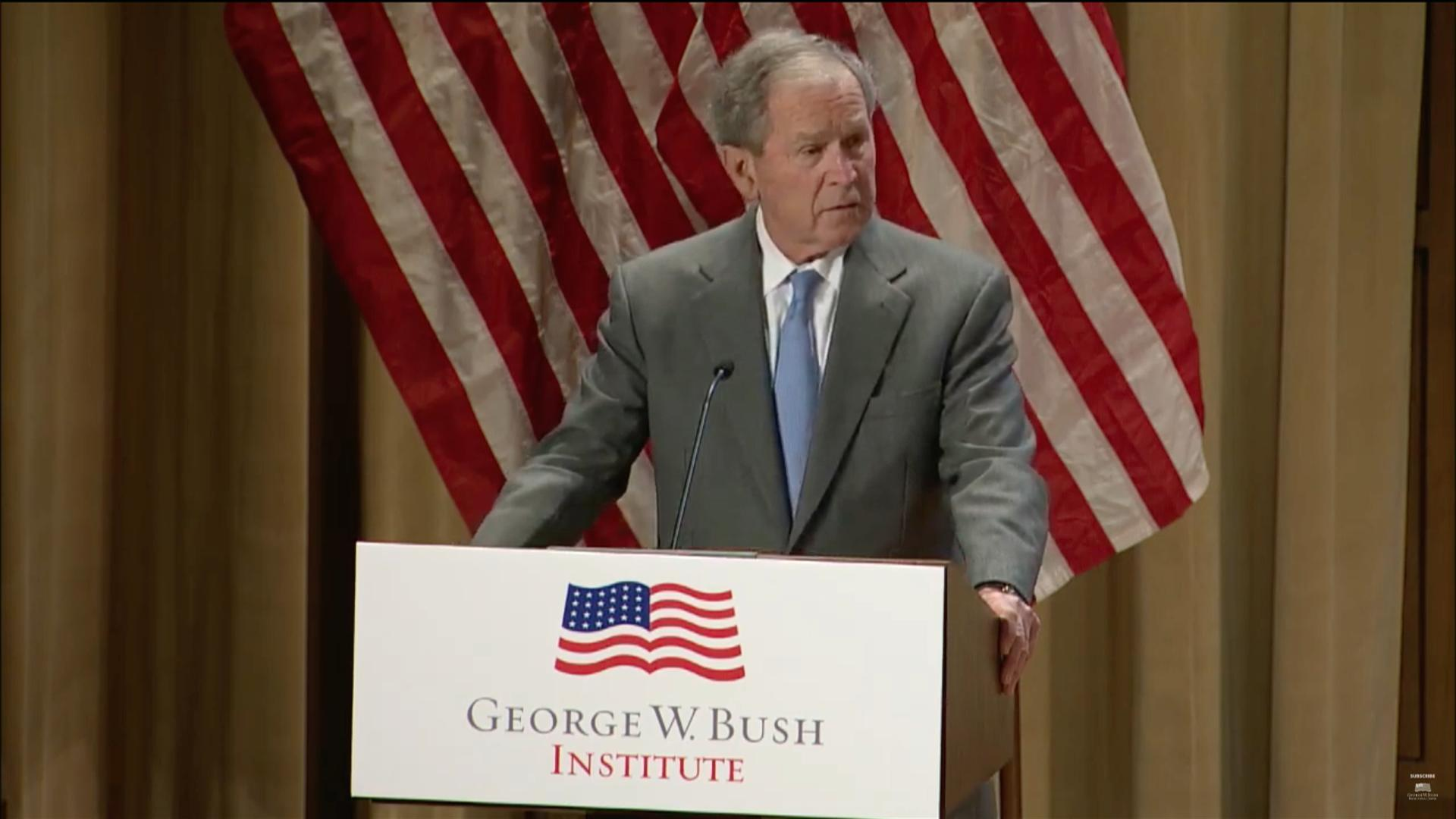 George W. Bush calls immigration 'a blessing and a strength' at naturalization ceremony