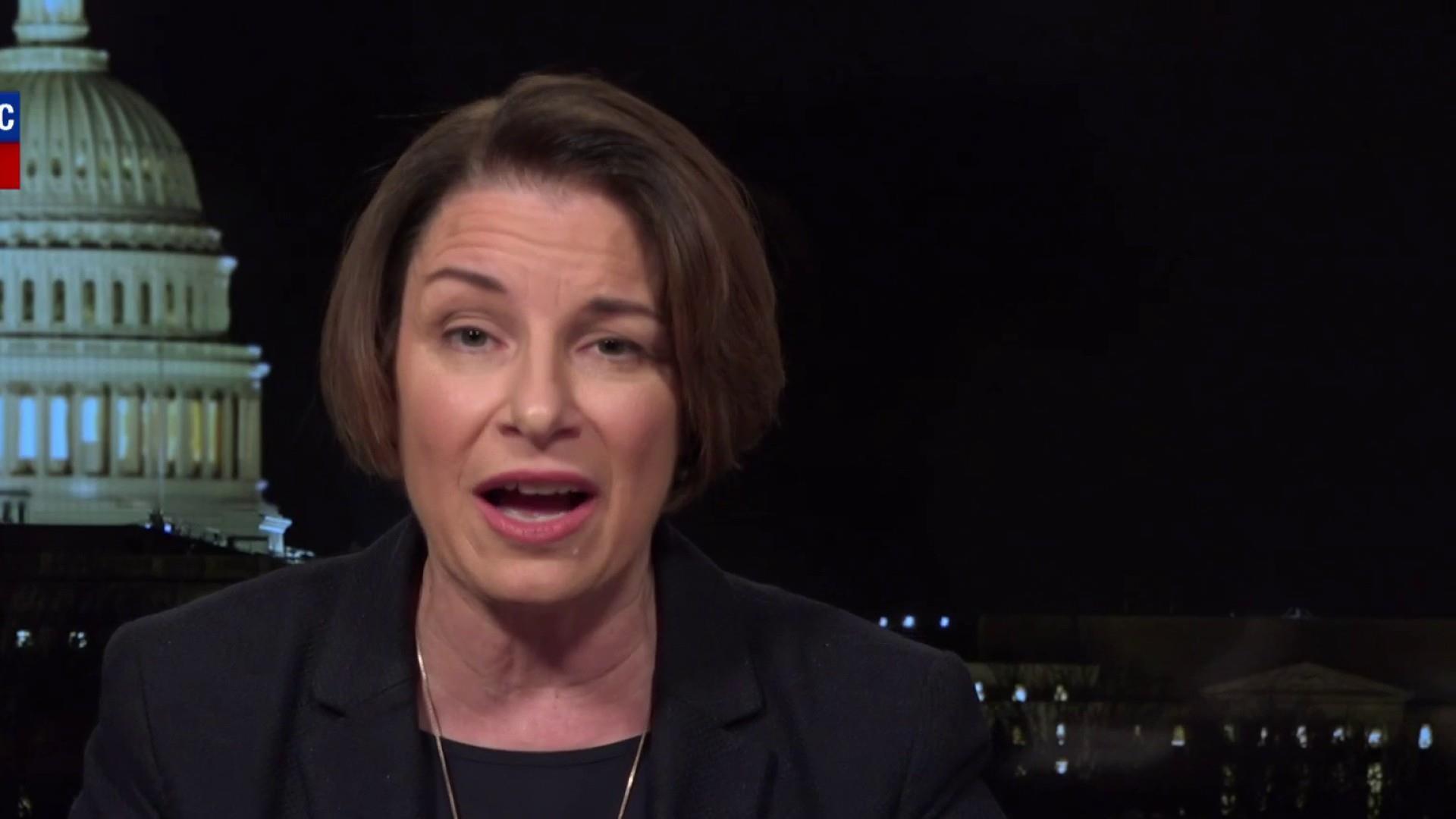 Sen. Amy Klobuchar supports a public option, tackling prescription drug prices