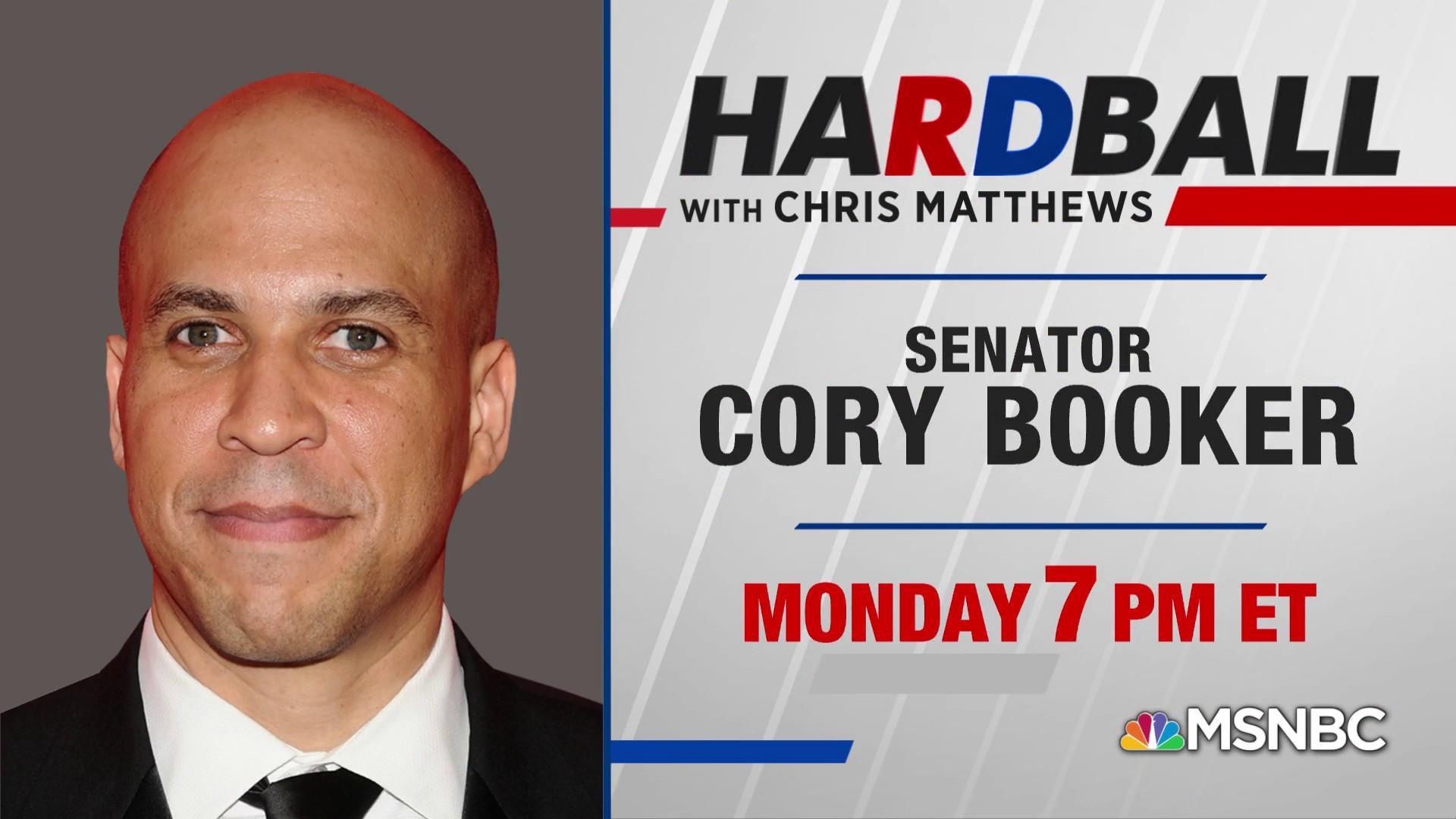Sen. Cory Booker plays Hardball on Monday