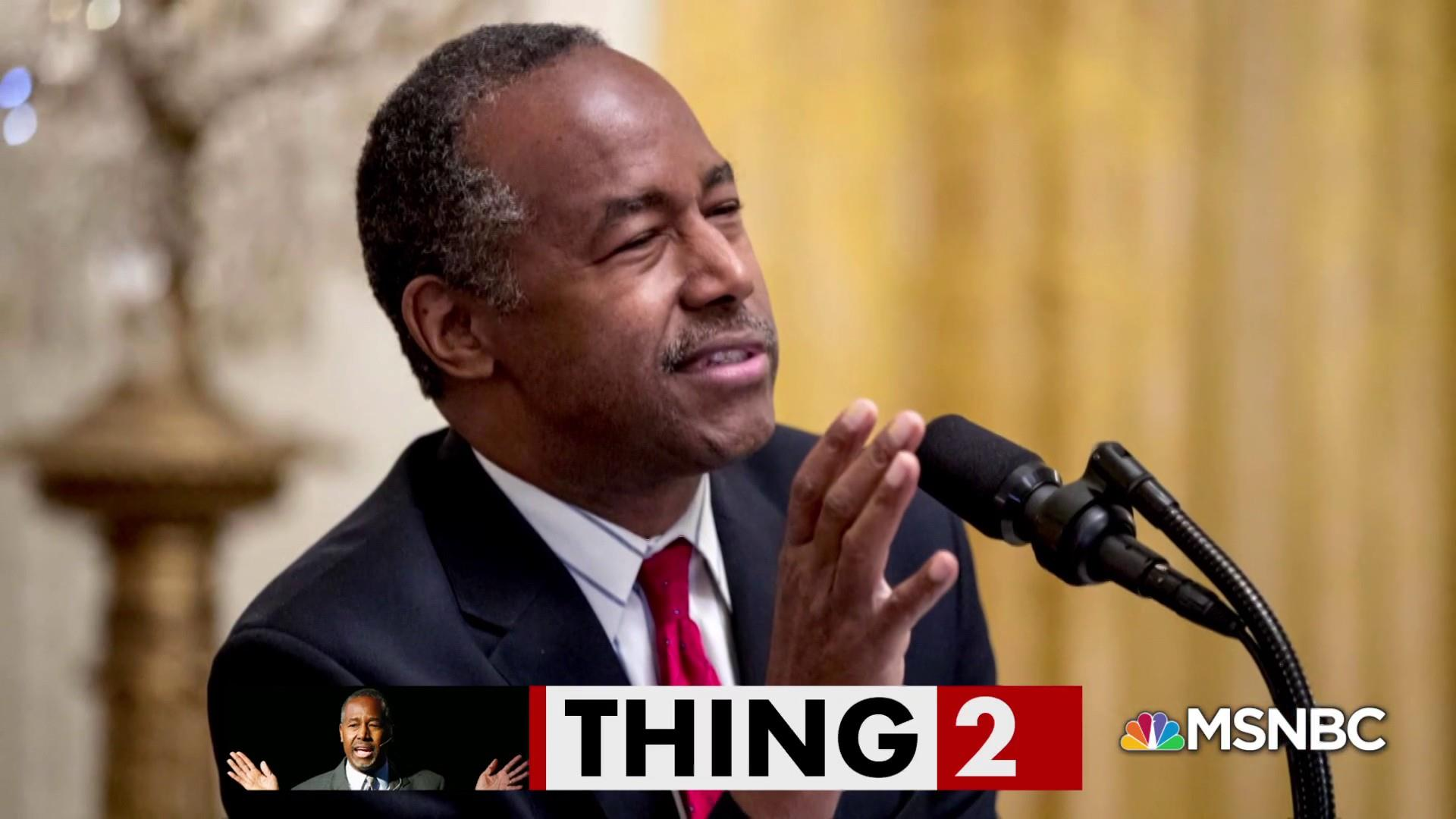 Ben Carson learns to work like Trump
