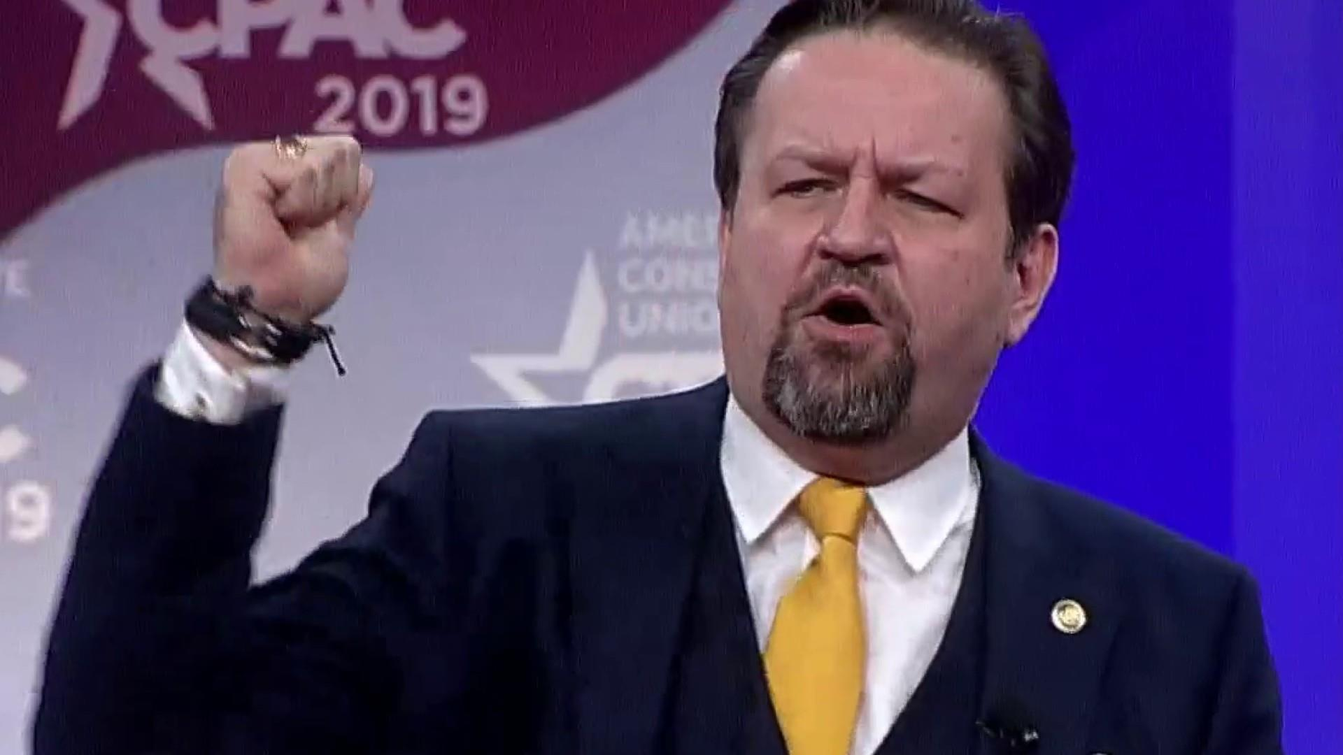 At CPAC Gorka claims Dems 'want to take away your hamburgers'
