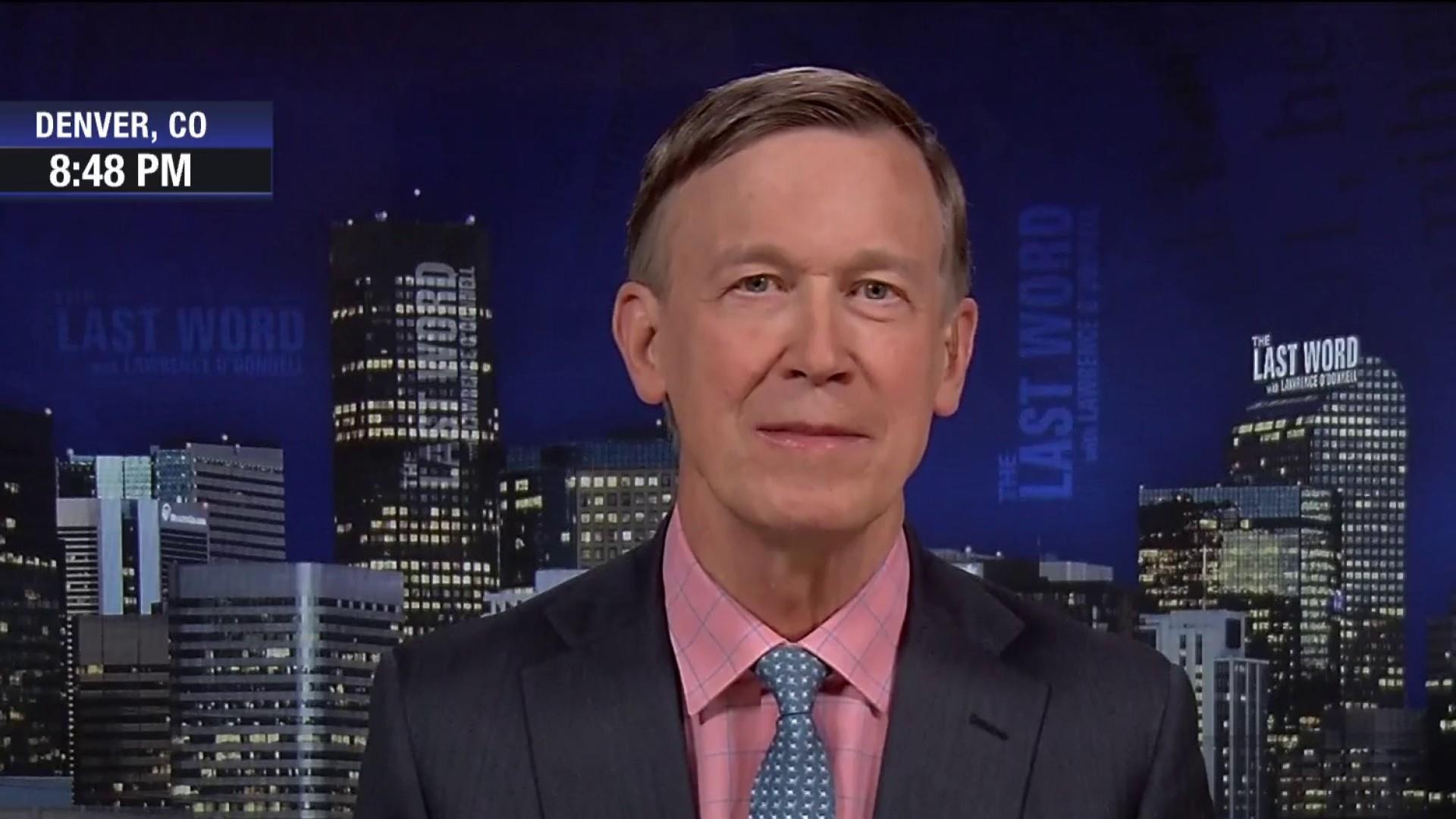 Lawrence interviews presidential contender John Hickenlooper