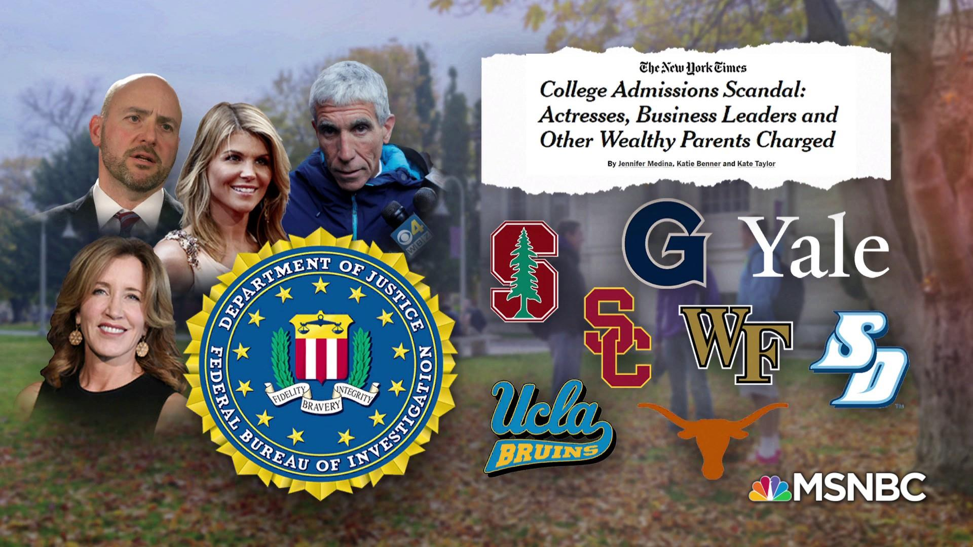 DOJ prosecuting its largest college admissions cheating scheme ever