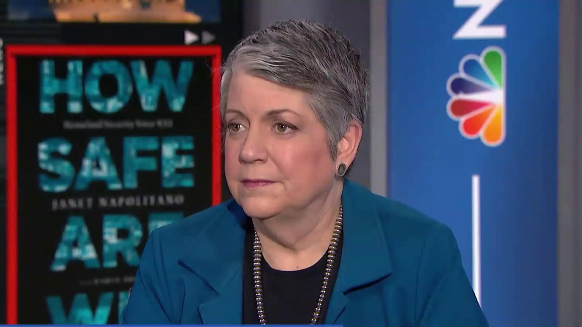 Janet Napolitano: A wall is a symbol. It's not a strategy