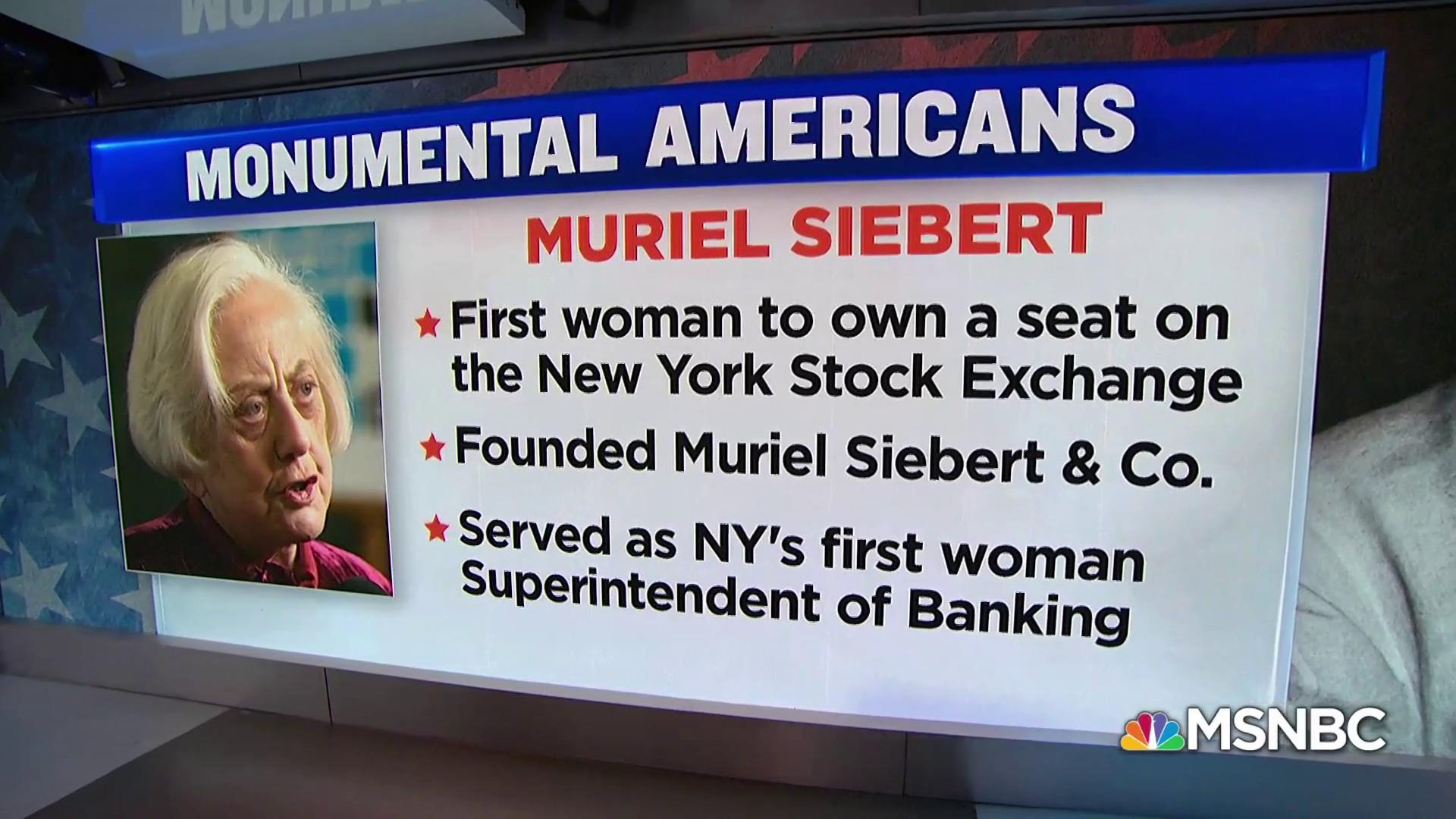#MonumentalAmerican: First woman to own a seat on the NYSE