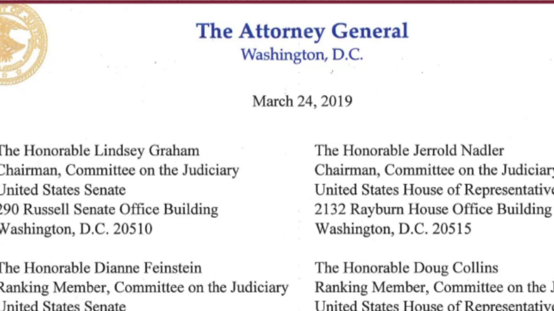 Barr summary from Mueller report: full NBC News Special Report