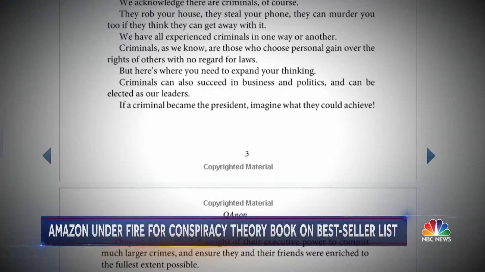 On Amazon, a Qanon conspiracy book climbs the charts — with an
