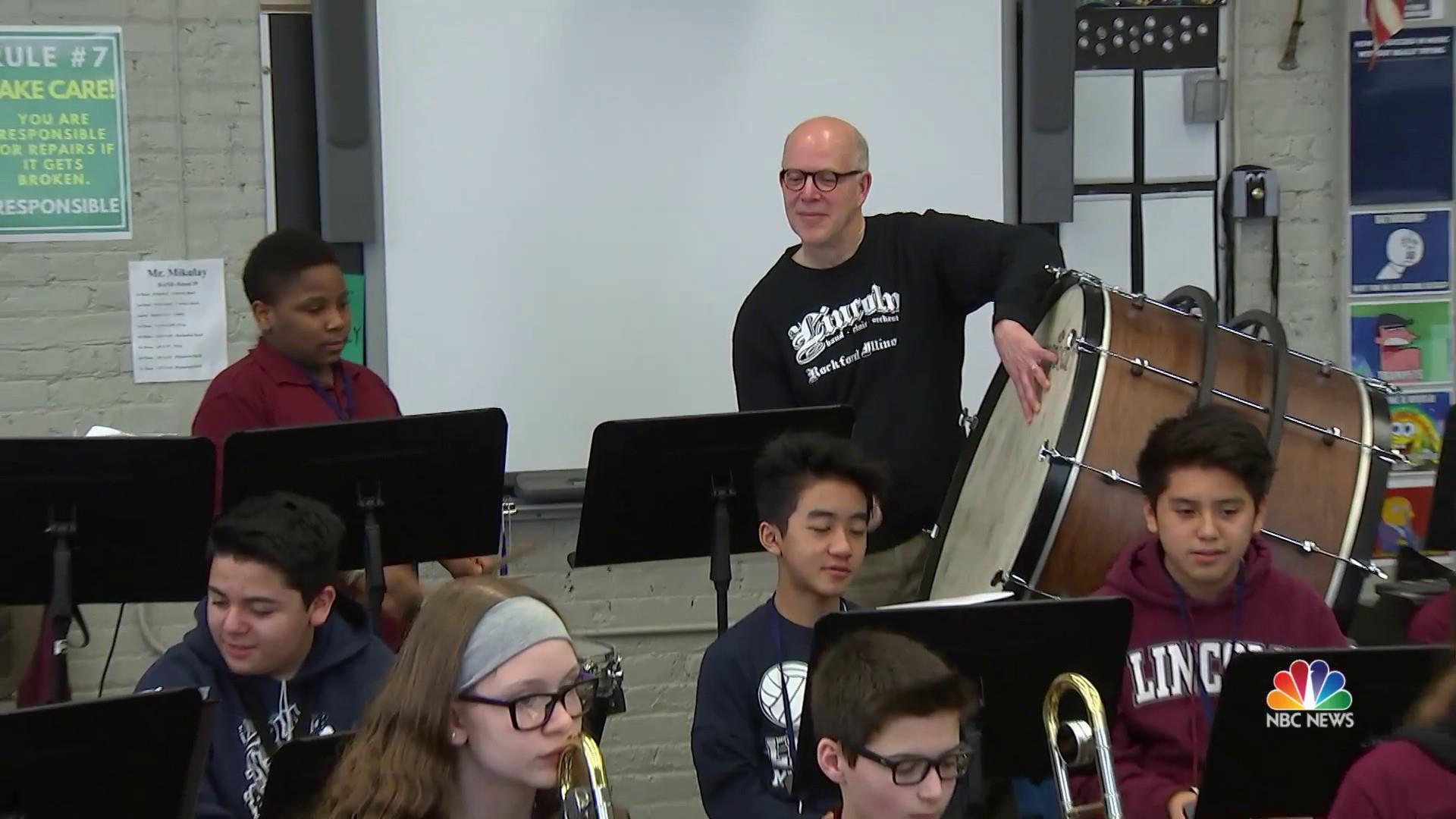 'Band Grandpas' helping students through music and mentorship