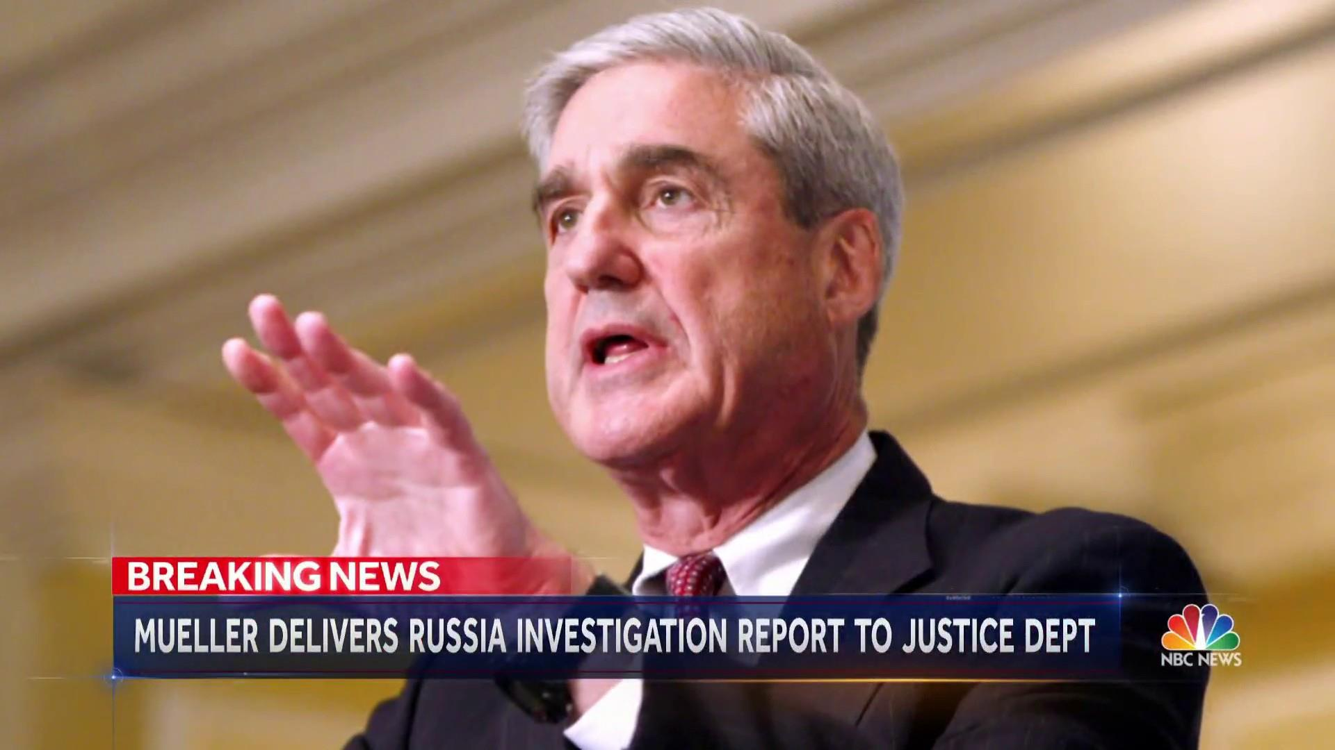 Special Counsel Mueller submits report to attorney general