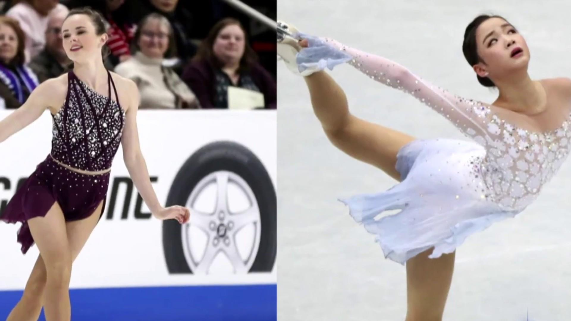 U.S. figure skater accused of injuring rival with skate blade