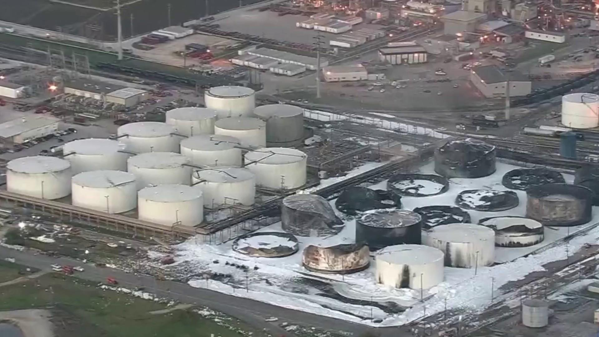 Residents demand answers over Texas chemical fire health concerns