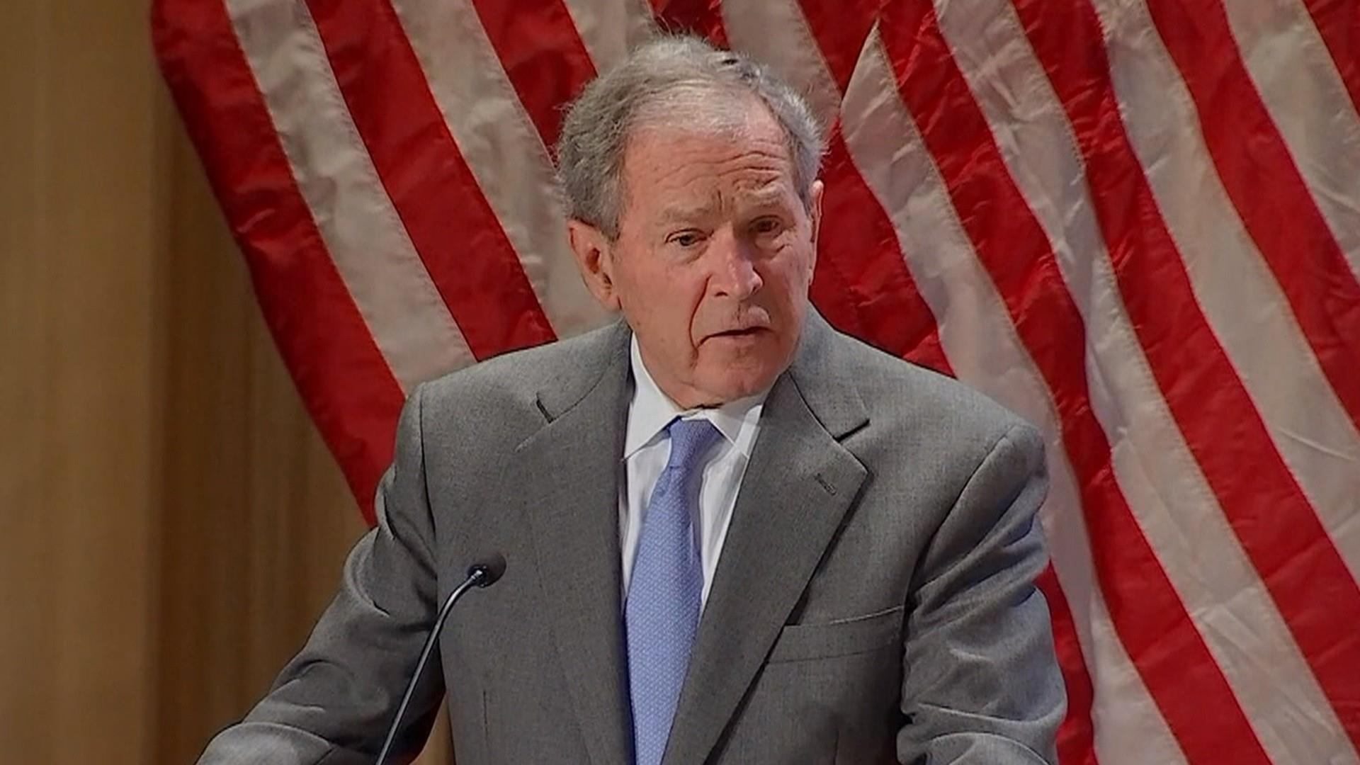 George W. Bush says 'immigration is a blessing' at naturalization ceremony