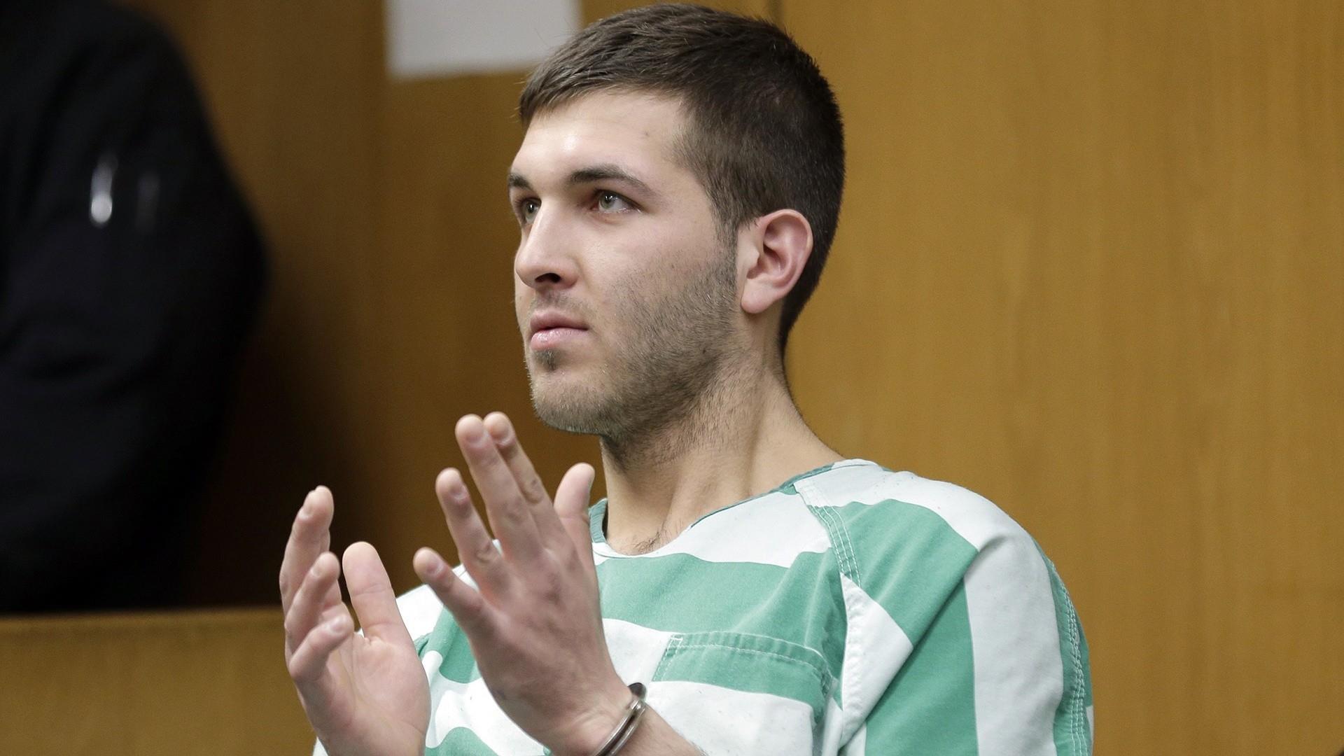 Frank Cali murder suspect in court with Trump slogans written on hand