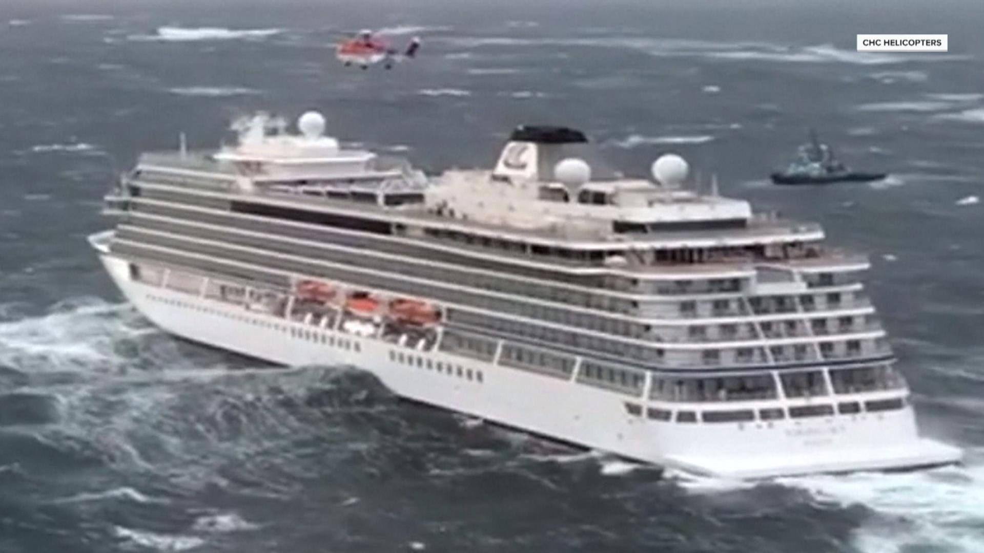 Norway cruise ship towed safely to port after passengers evacuated by airlift