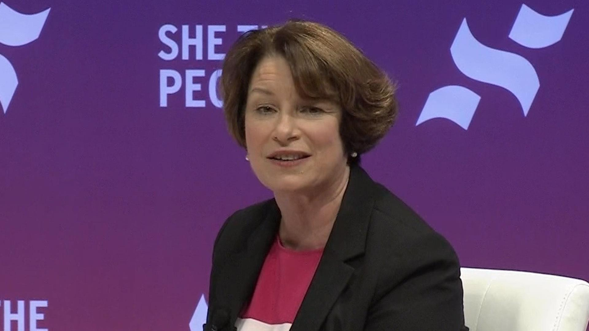 Amy Klobuchar talks why women of color should vote for her at 'She The People' forum