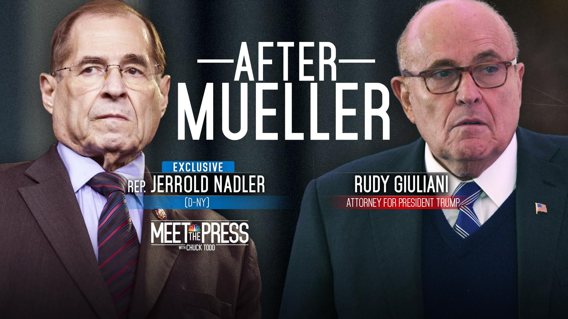 April 21 - Rudy Giuliani, Rep. Jerry Nadler