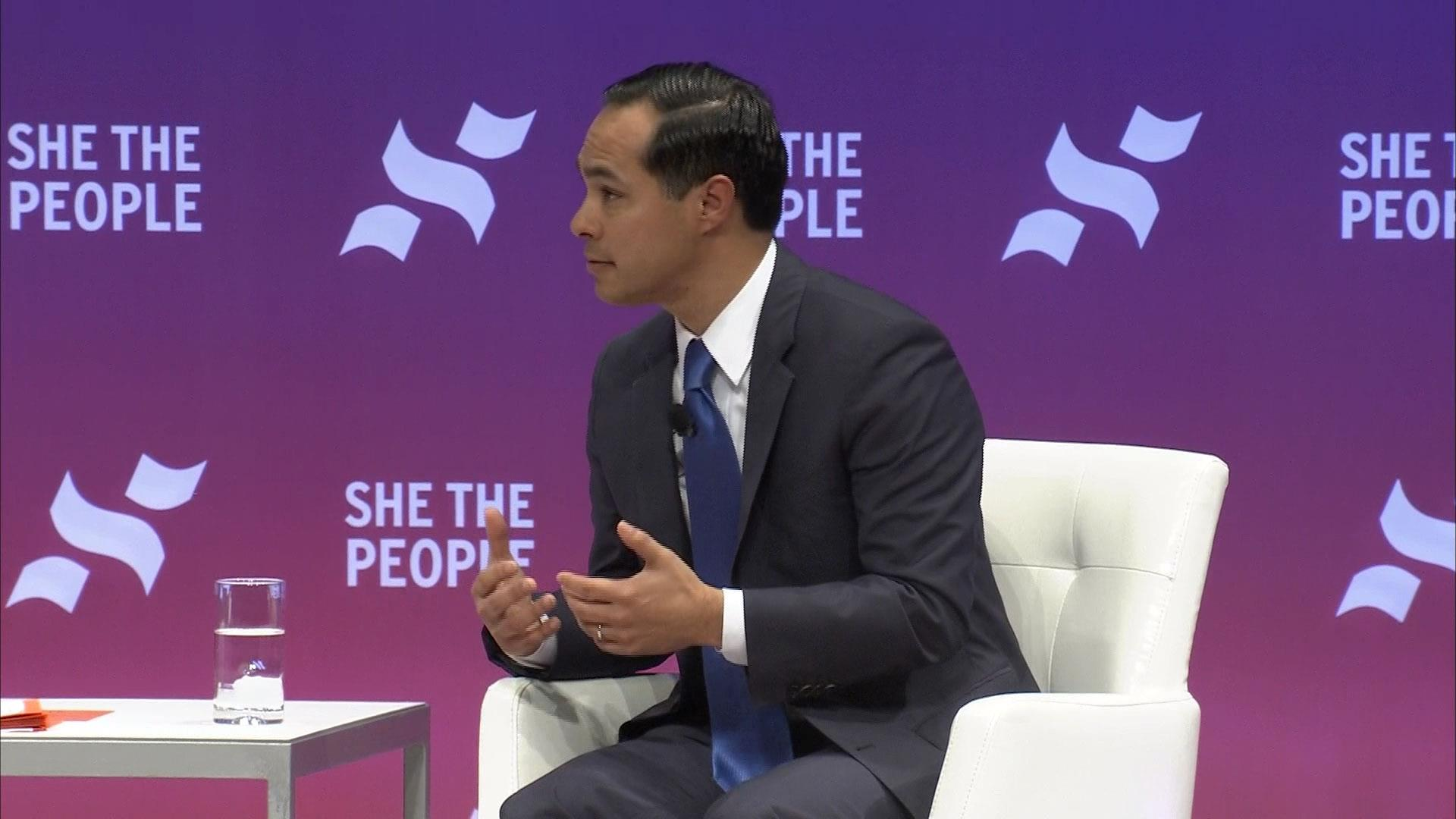 2020 Presidential Candidate Julian Castro says he believes in a woman's right to choose