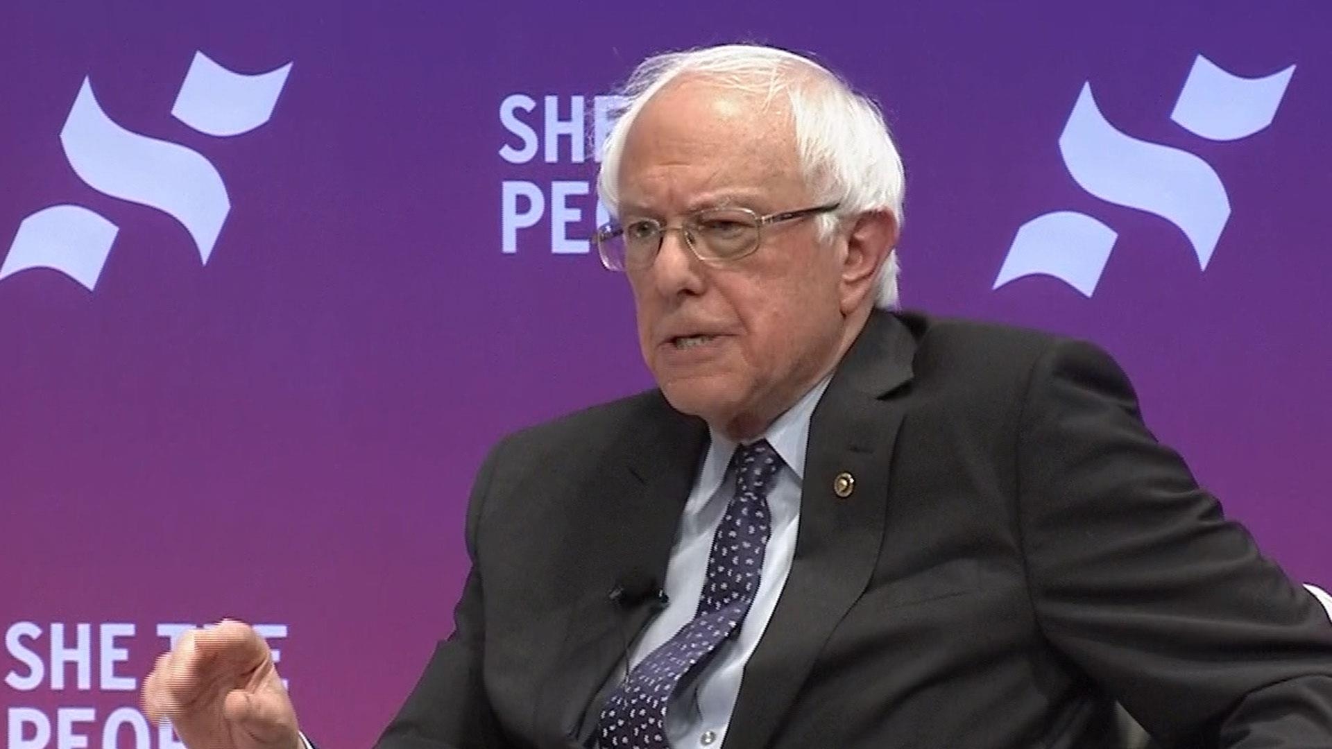 Bernie Sanders on Democrats being a united party at the 'She The People' forum
