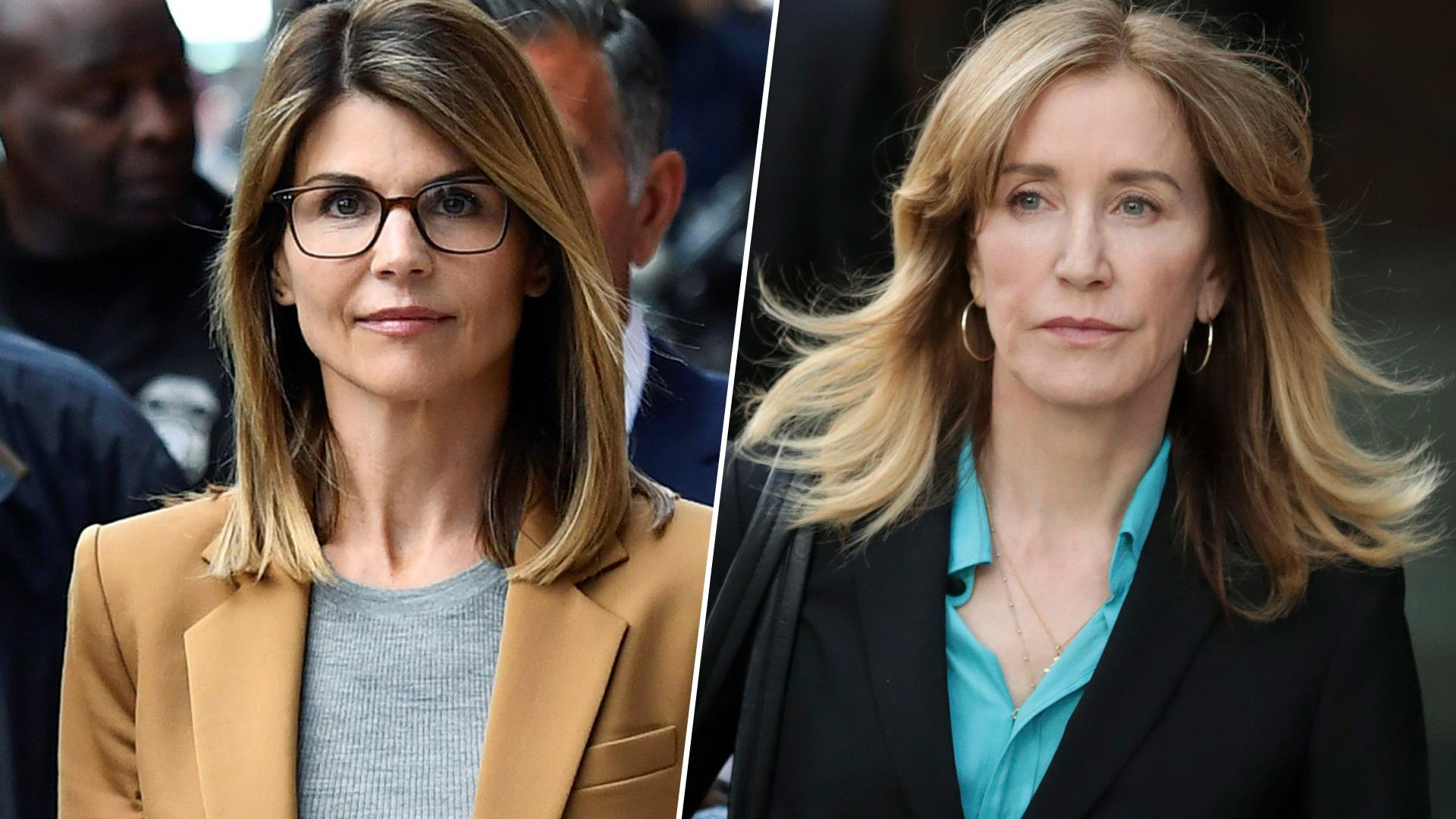 Actresses leave court after facing judge in college admissions scam