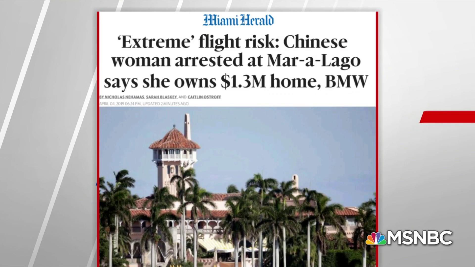 Miami Herald: Chinese national arrested at Mar-a-Lago posed 'extreme' flight risk