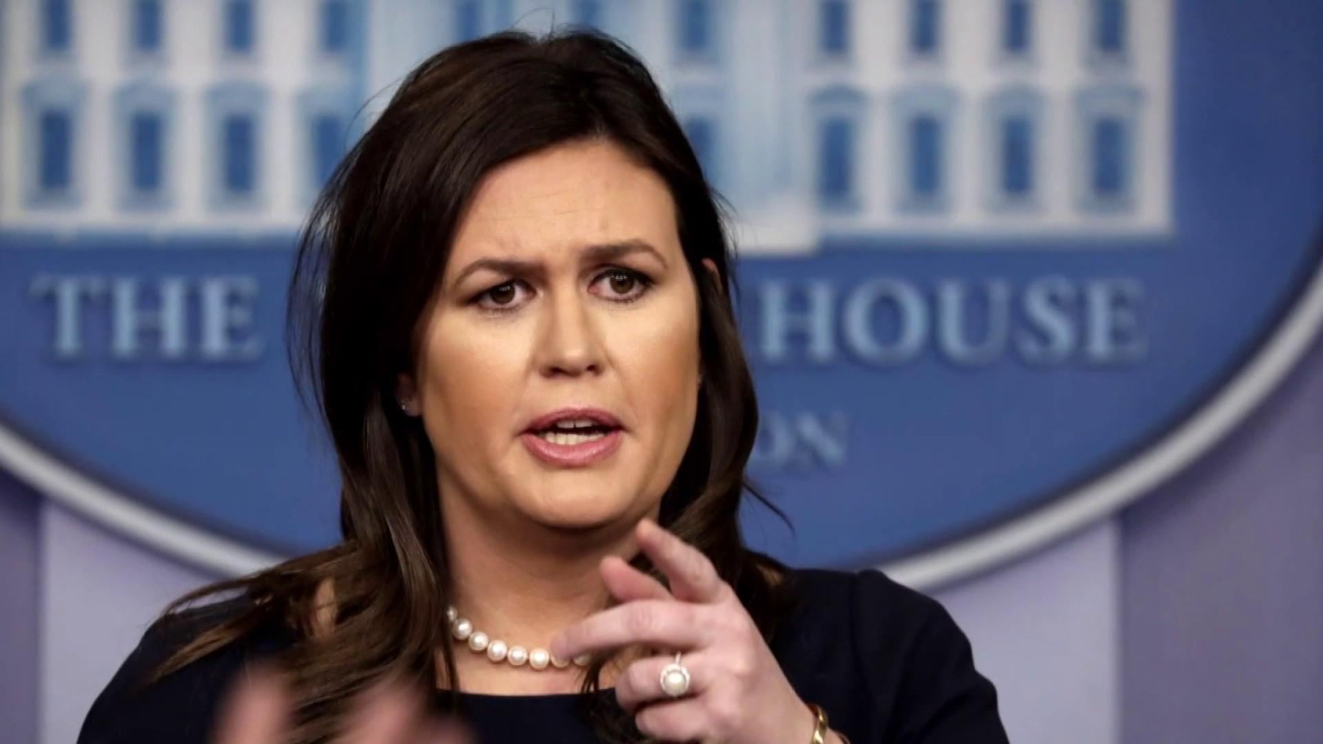 Sarah Sanders caught lying. So she lies again.